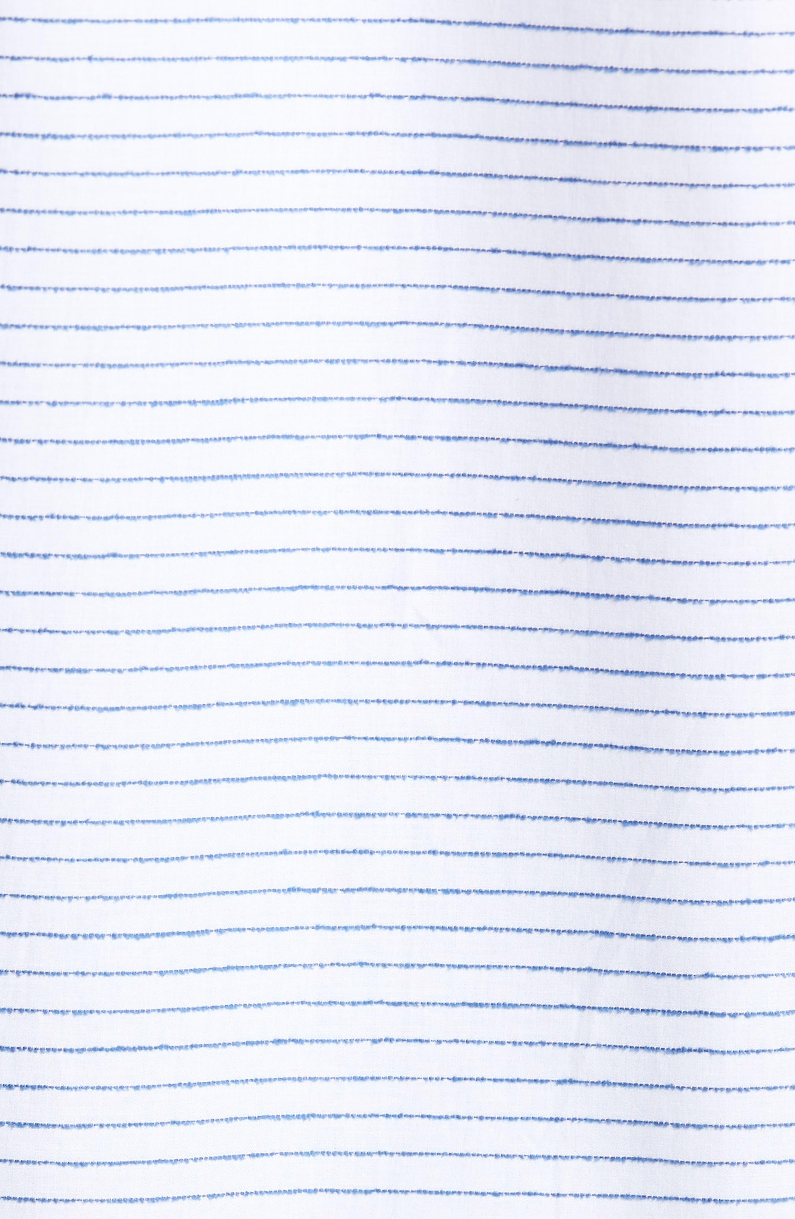 Slim Fit Stripe Sport Shirt,                             Alternate thumbnail 5, color,                             163