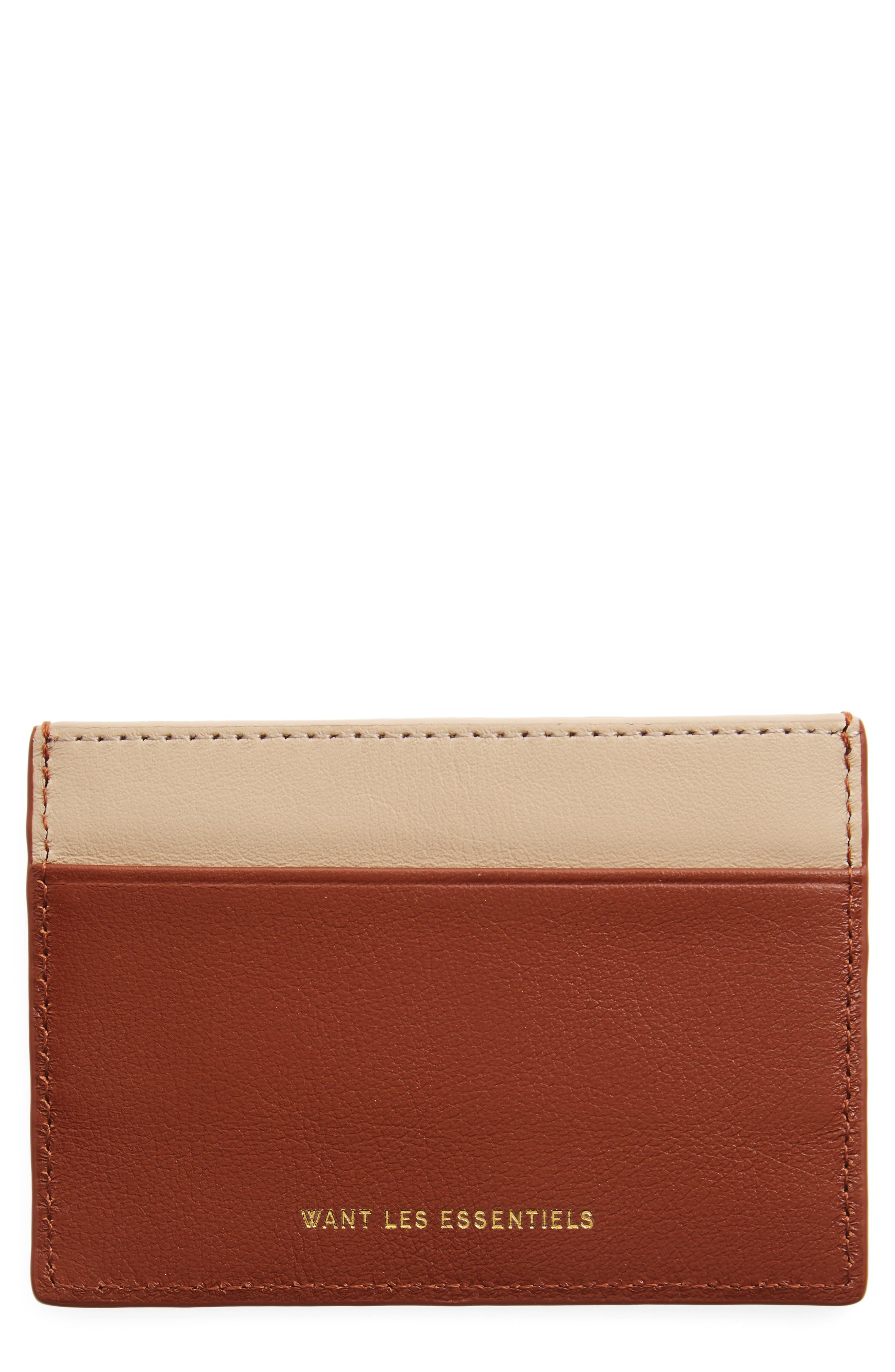 WANT LES ESSENTIELS Branson Leather Card, Main, color, 212