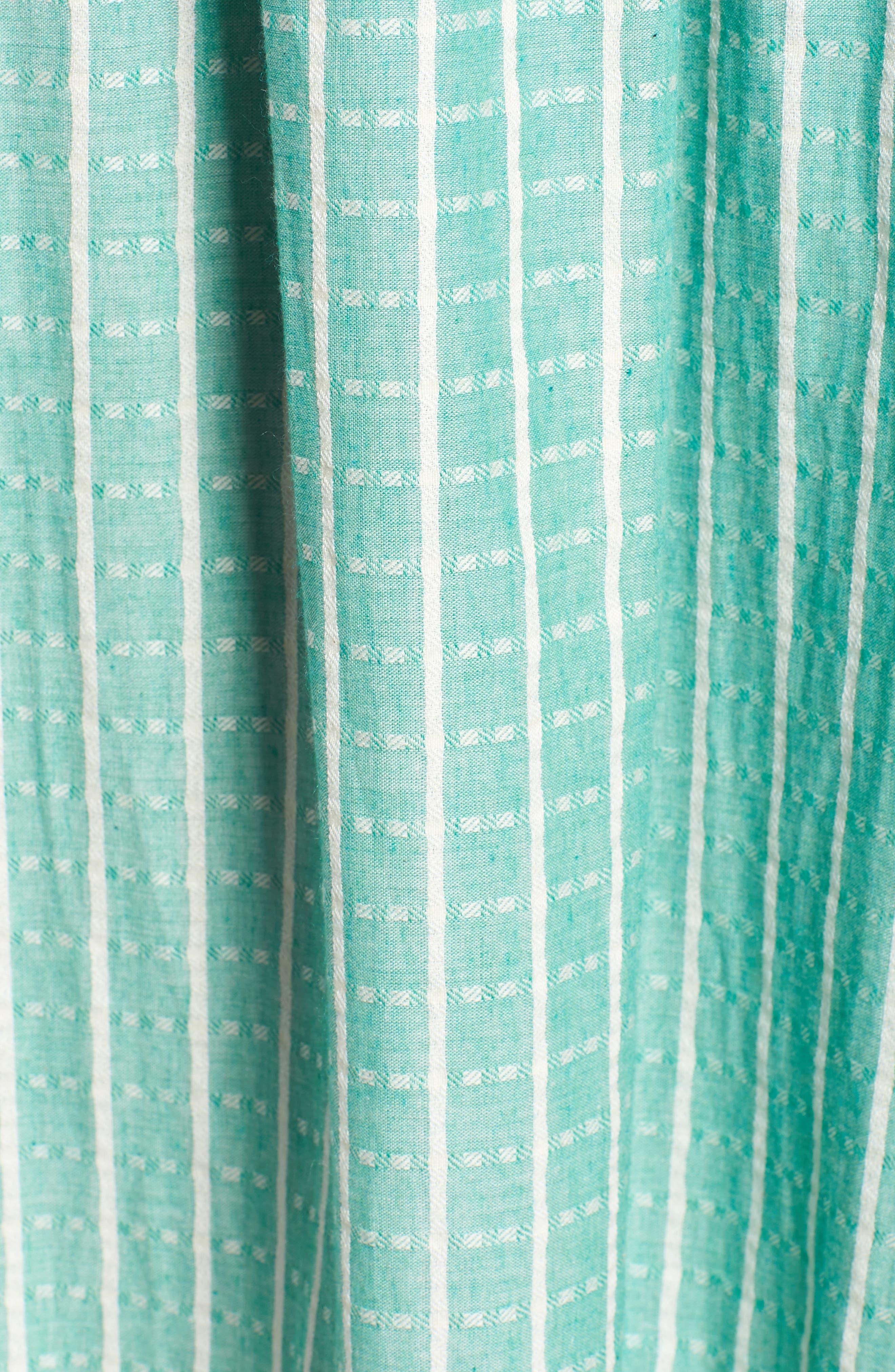 Tie Waist Cotton Maxi Dress,                             Alternate thumbnail 18, color,