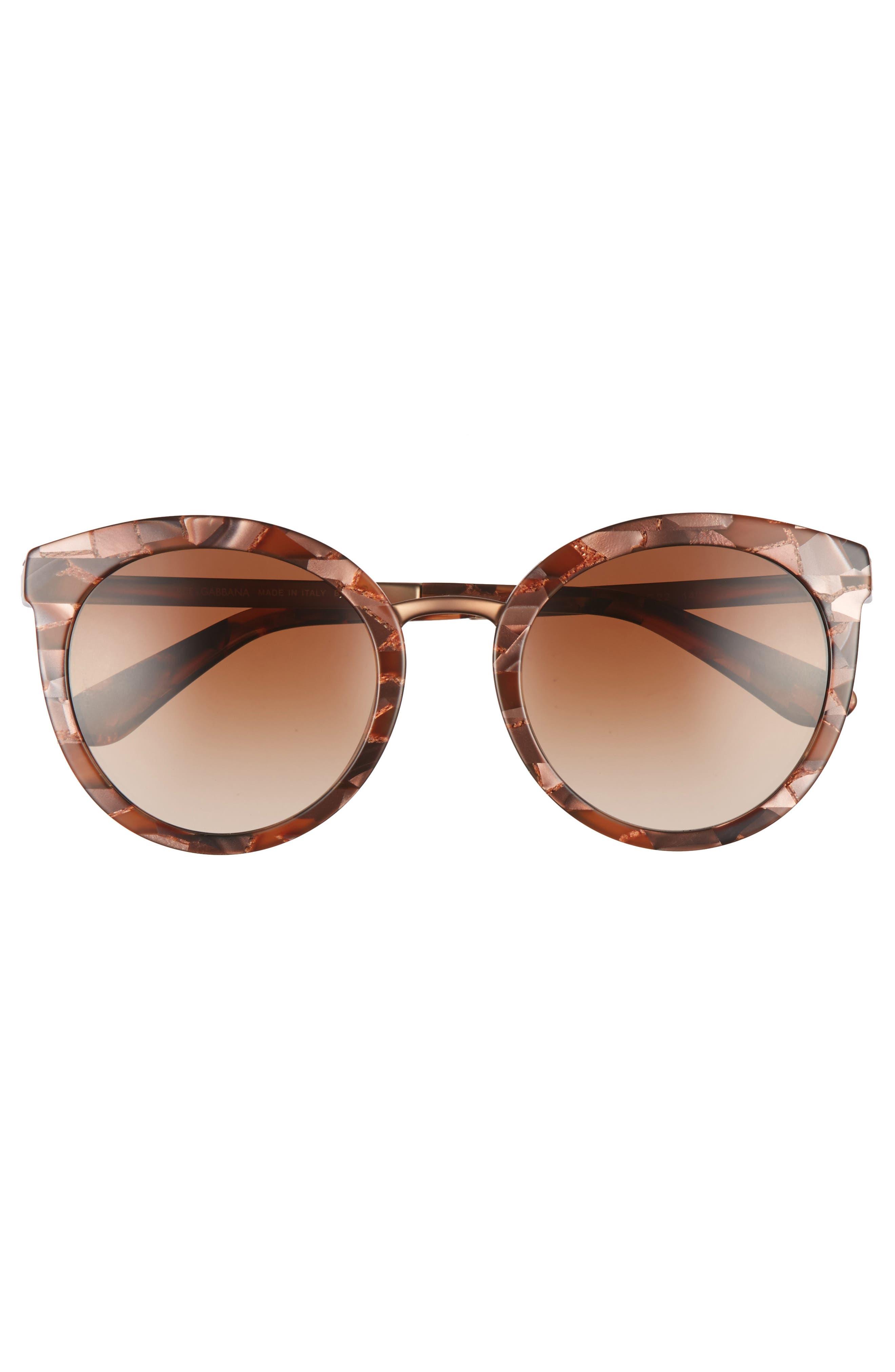 52mm Round Sunglasses,                             Alternate thumbnail 3, color,                             220