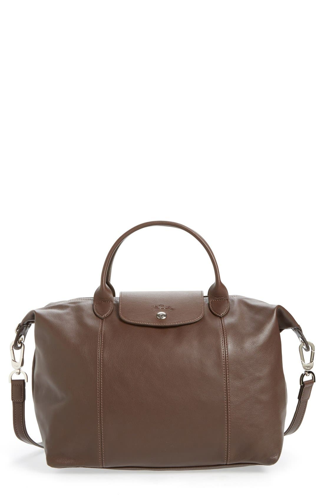 Medium 'Le Pliage Cuir' Leather Top Handle Tote,                             Main thumbnail 8, color,