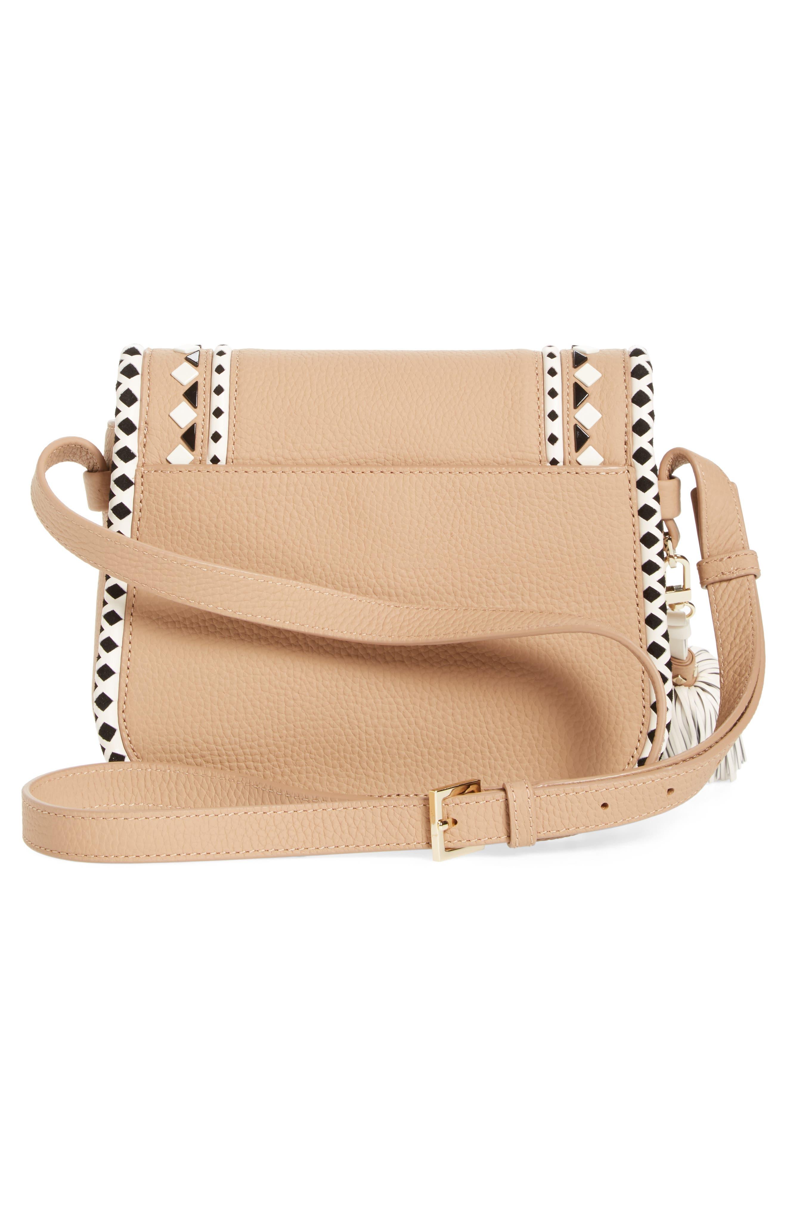 crown street - jasper leather saddle bag,                             Alternate thumbnail 3, color,                             248