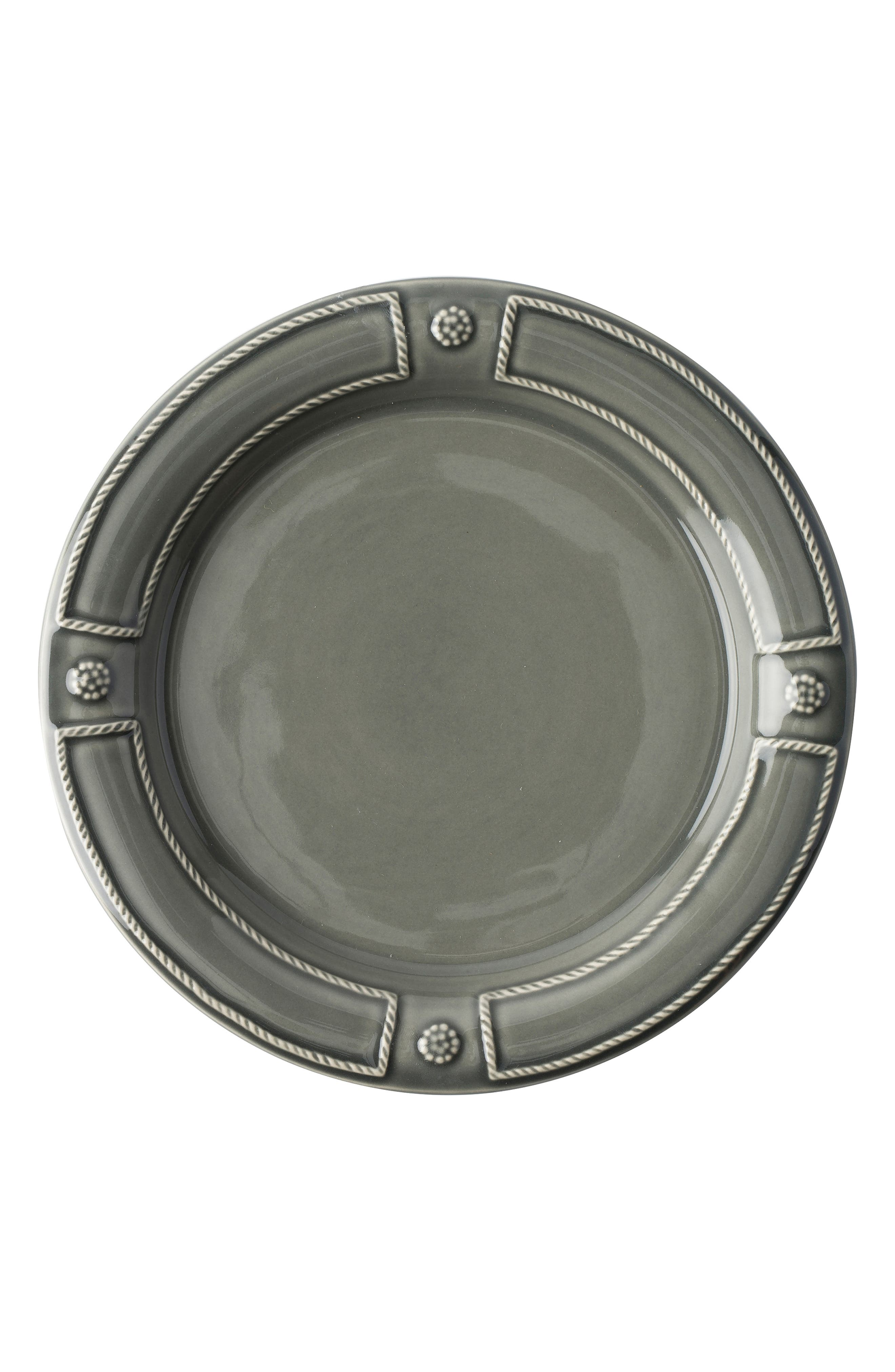 Berry & Thread French Panel Ceramic Salad Plate,                         Main,                         color, STONE GREY