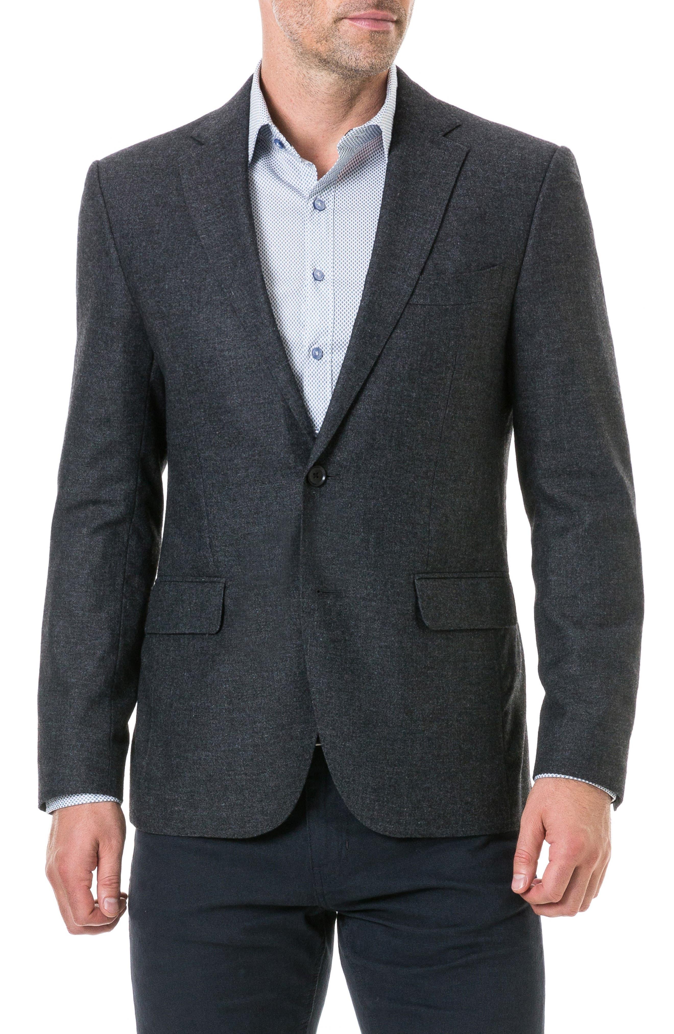 Norton Reverse Regular Fit Sport Coat,                         Main,                         color, CHARCOAL