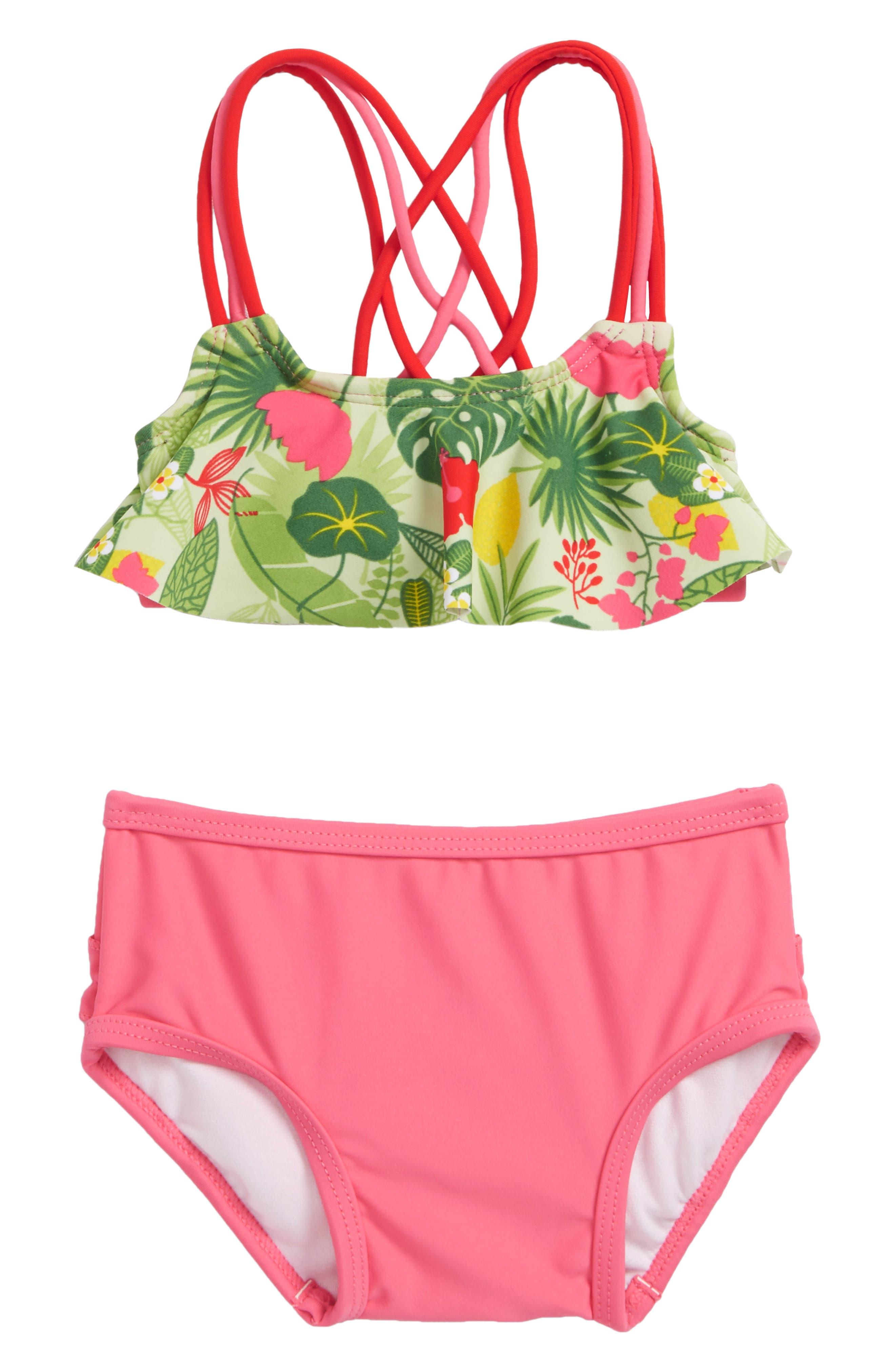 Puerto Vallarta Flounce Two-Piece Swimsuit,                         Main,                         color, 651