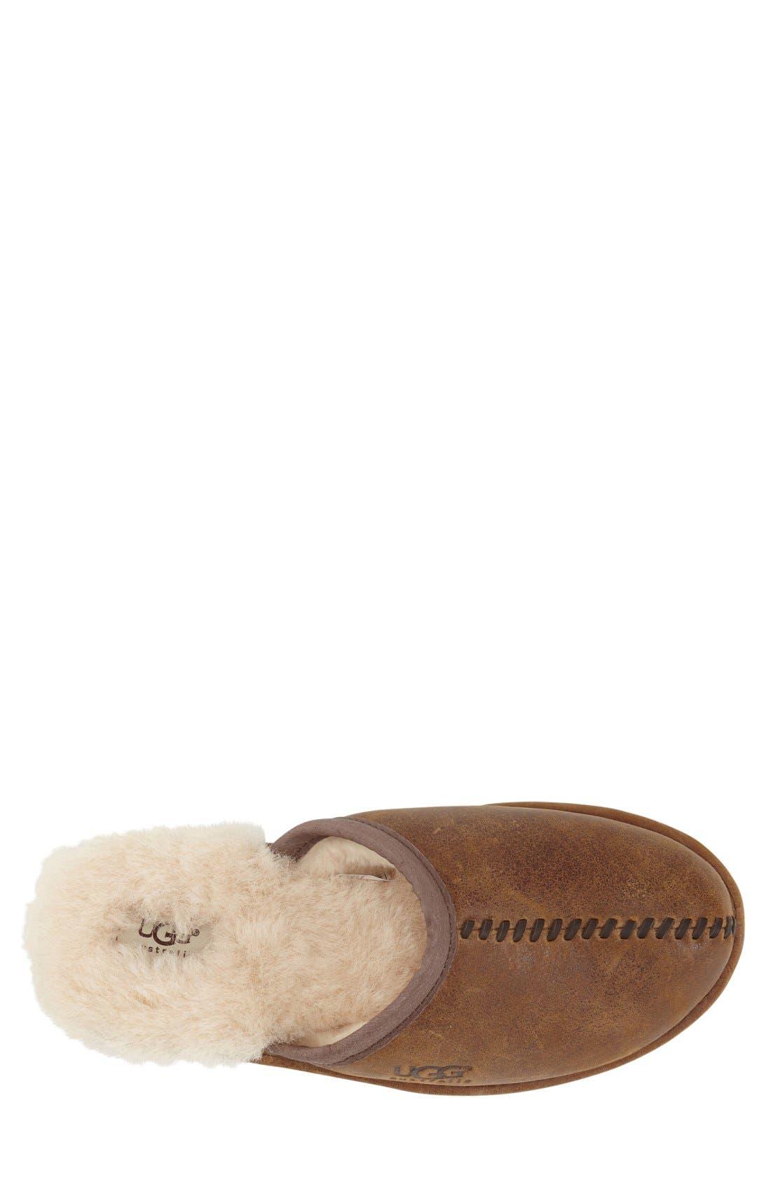 Scuff - Deco Genuine Shearling Slipper,                             Alternate thumbnail 3, color,                             219