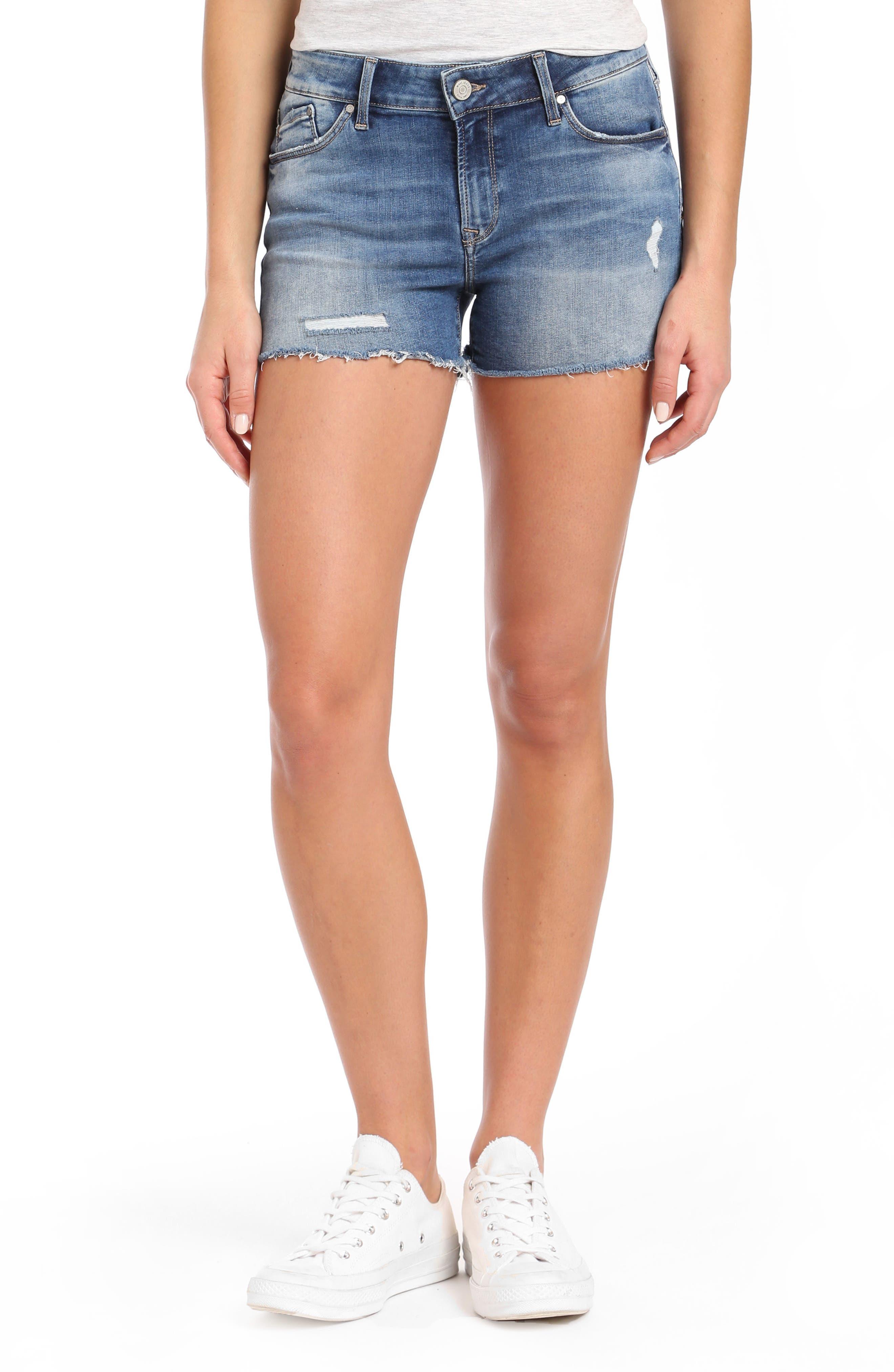 Emily Cutoff Denim Shorts,                         Main,                         color, 420