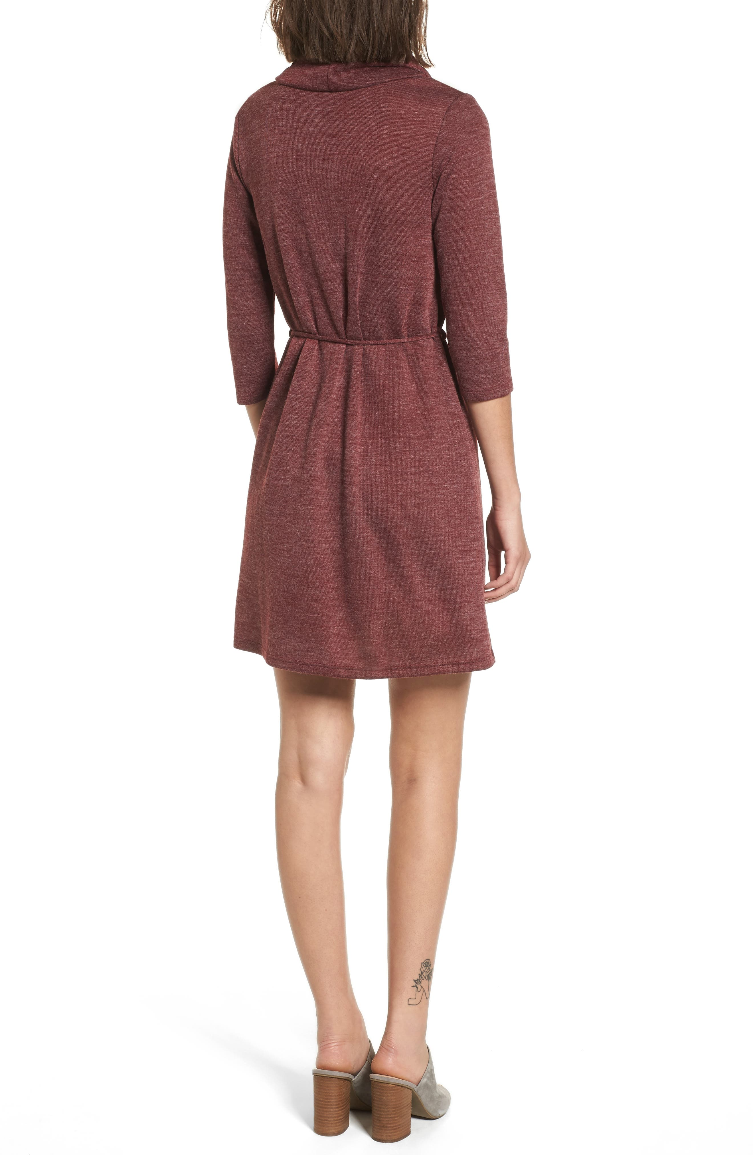 Cowl Neck Dress,                             Alternate thumbnail 2, color,                             930