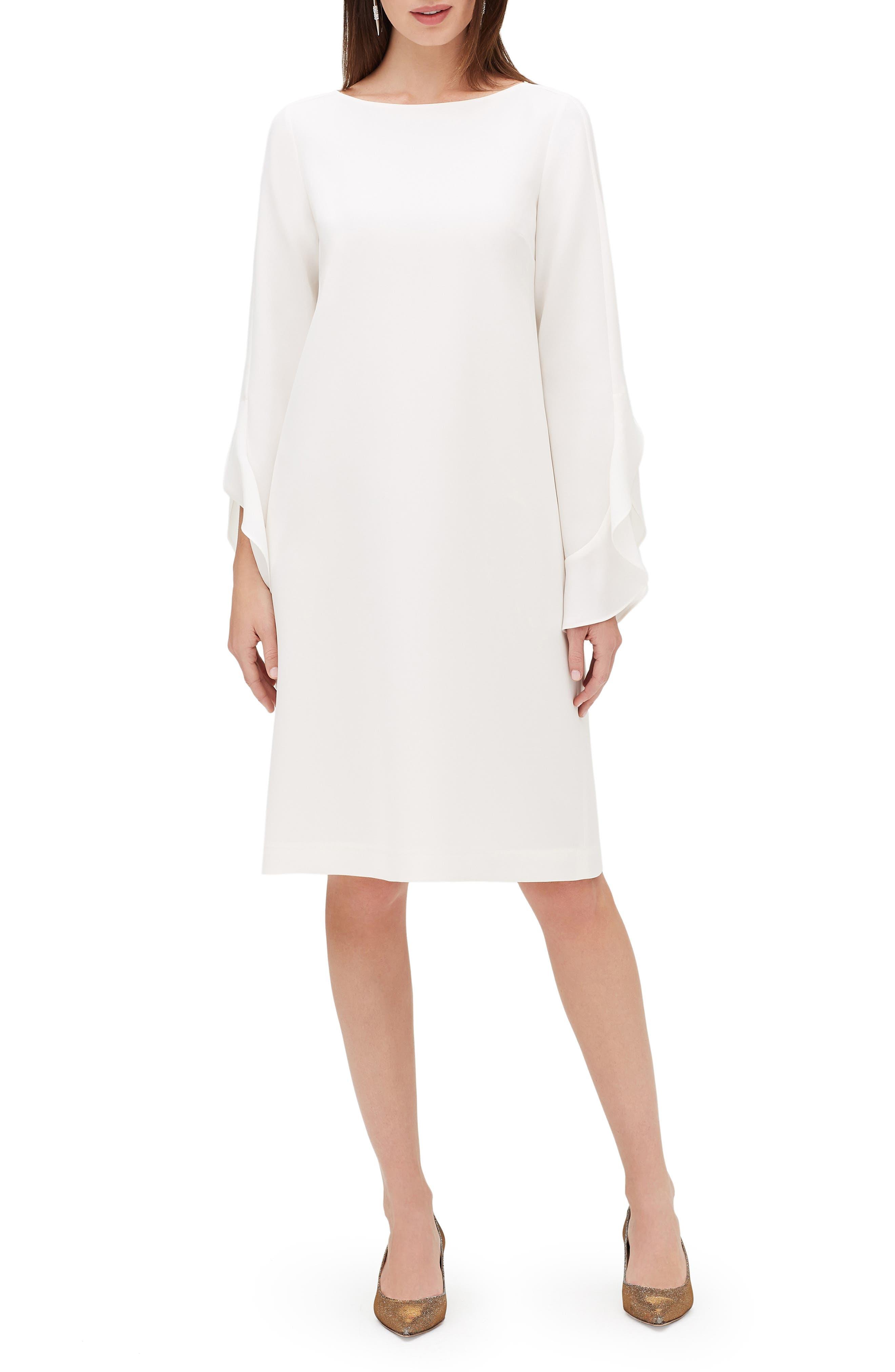 Lafayette 148 New York Emory Finesse Crepe Dress, White