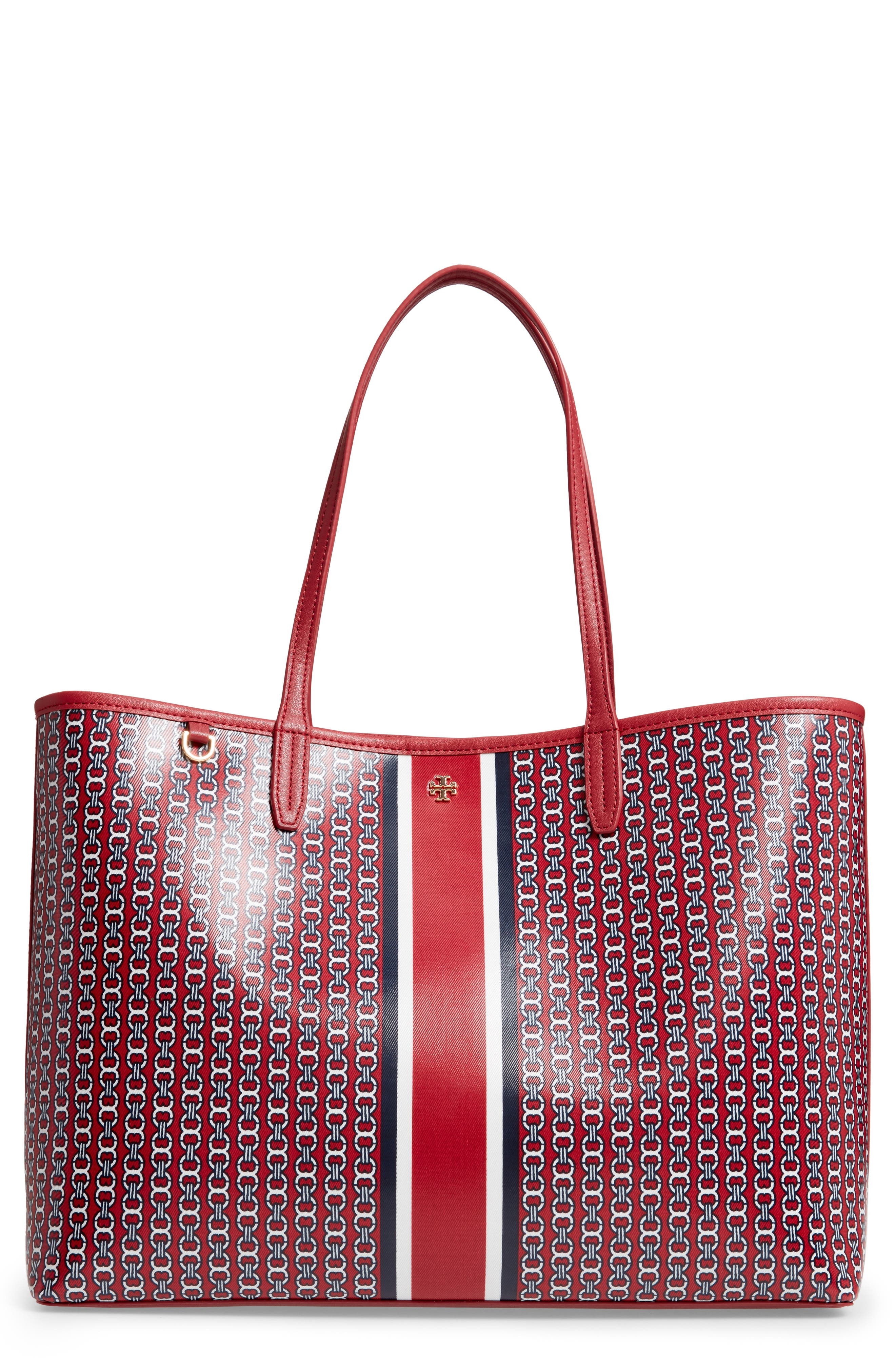 Gemini Link Coated Canvas Tote, Main, color, REDSTONE