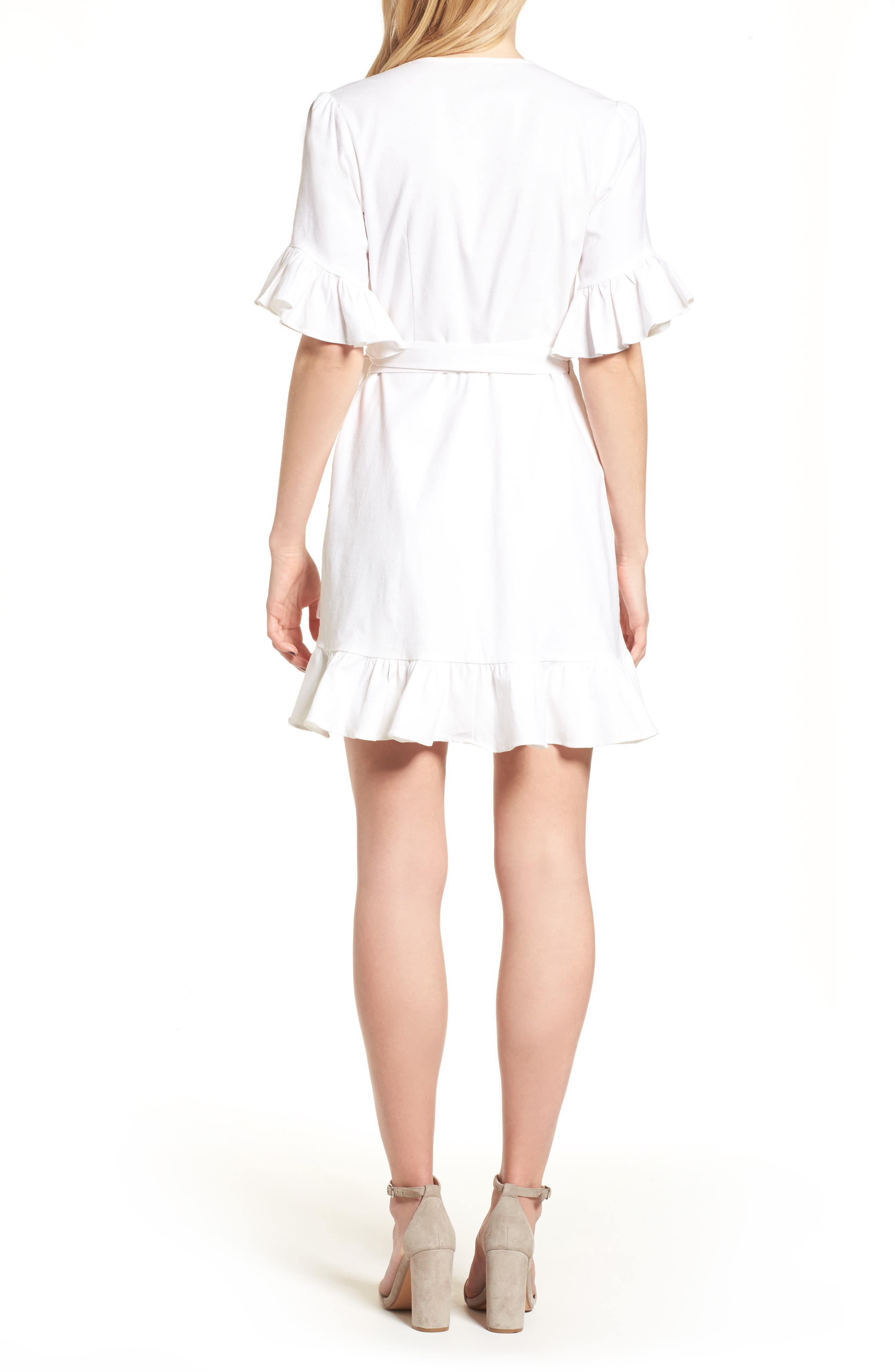 Ruffle Wrap Dress,                             Alternate thumbnail 9, color,