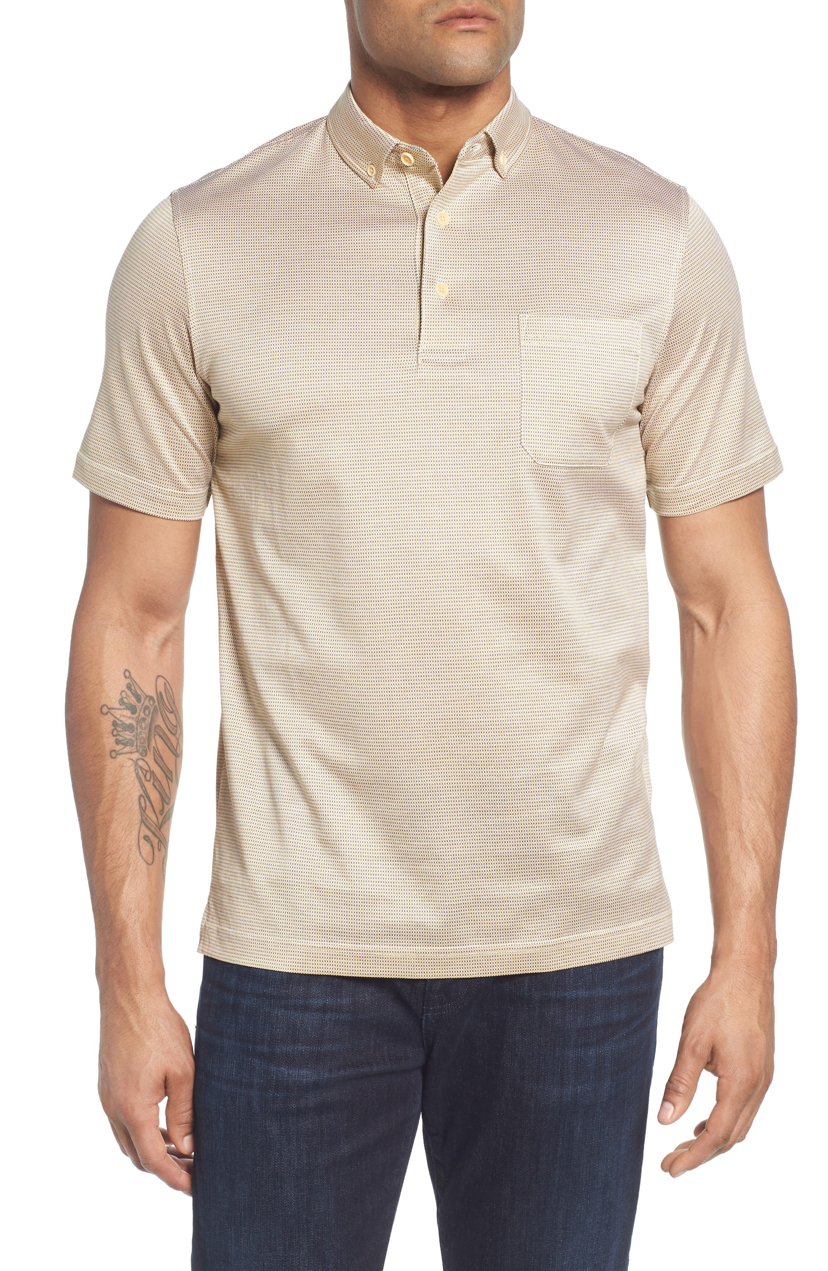 Dot Mercerized Cotton Polo,                         Main,                         color, SUN