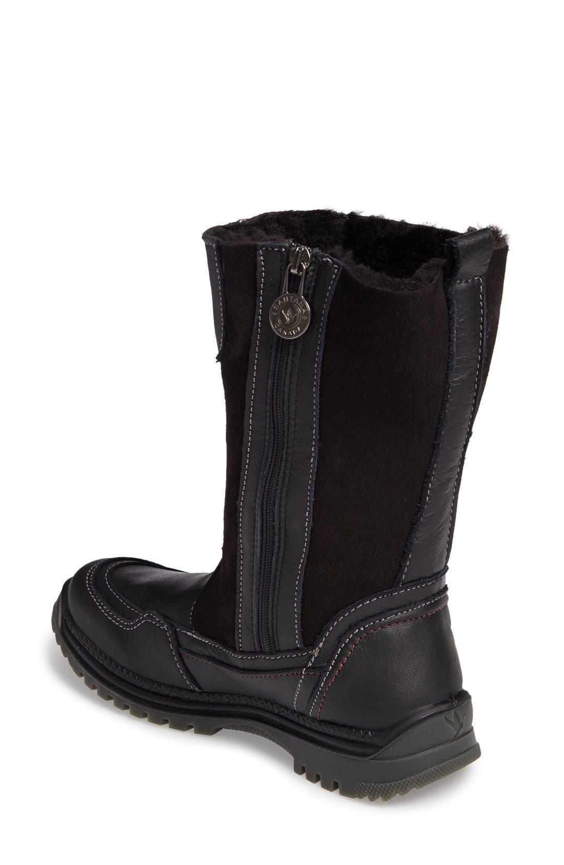 Seraphine Genuine Shearling Waterproof Winter Boot,                             Alternate thumbnail 6, color,                             001