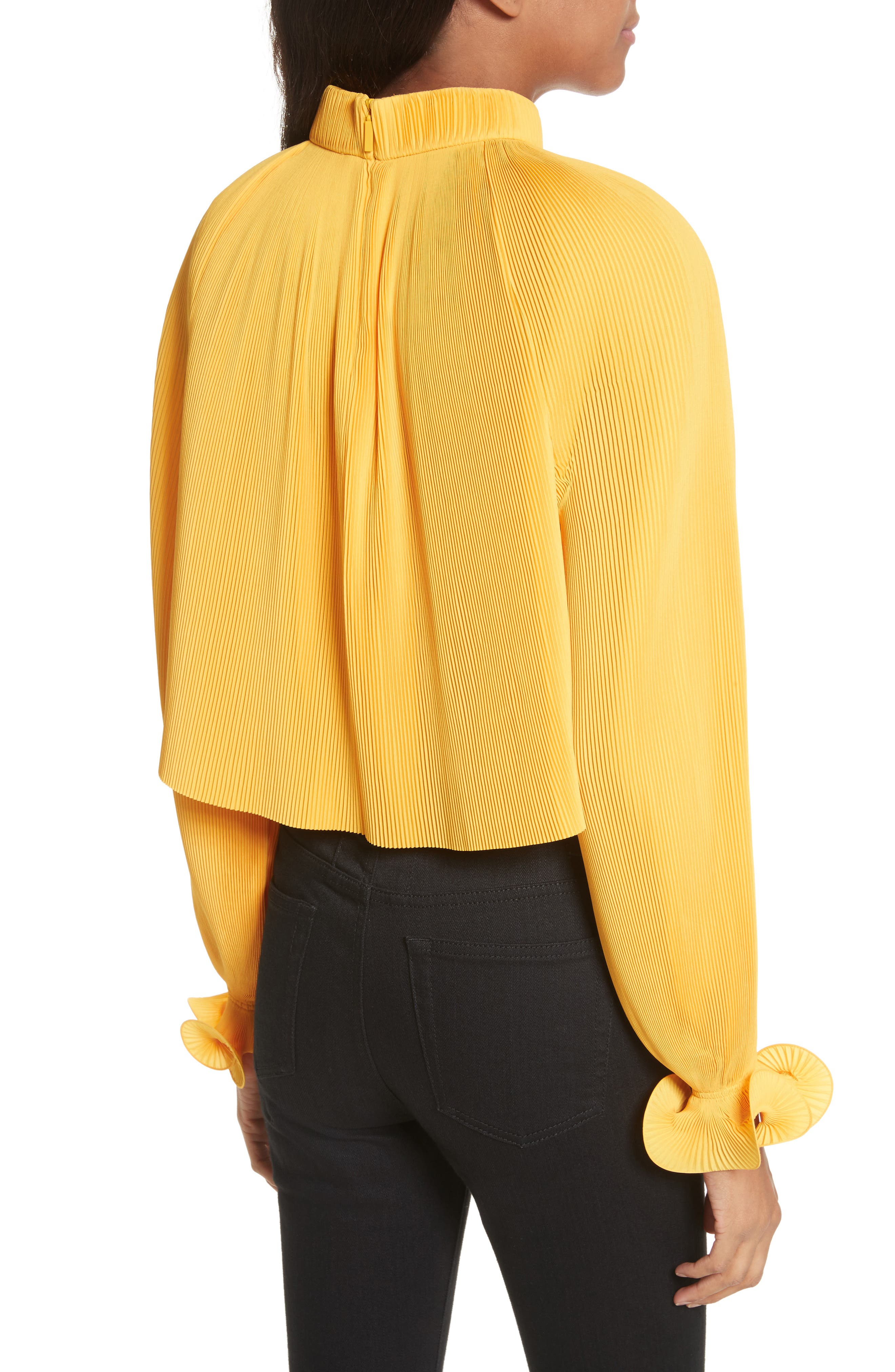Pleated Crop Top,                             Alternate thumbnail 9, color,