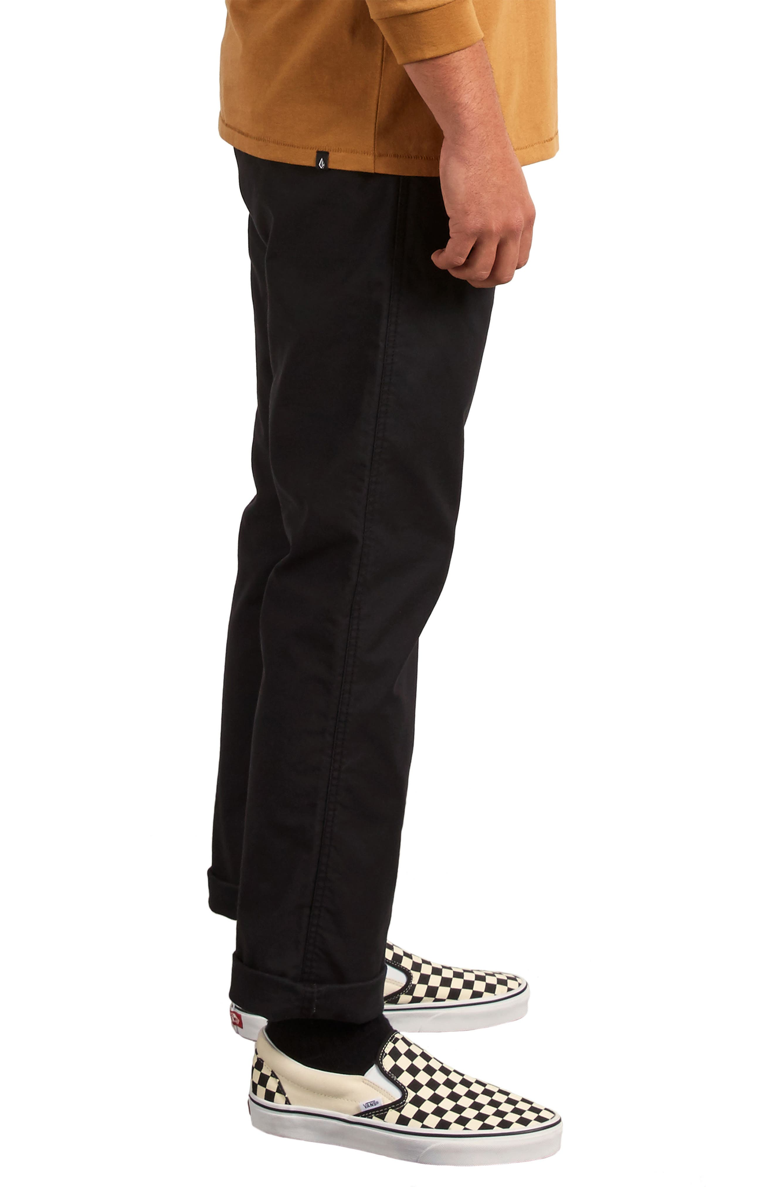 Gritter Modern Fit Straight Leg Chino Pants,                             Alternate thumbnail 3, color,                             BLACK
