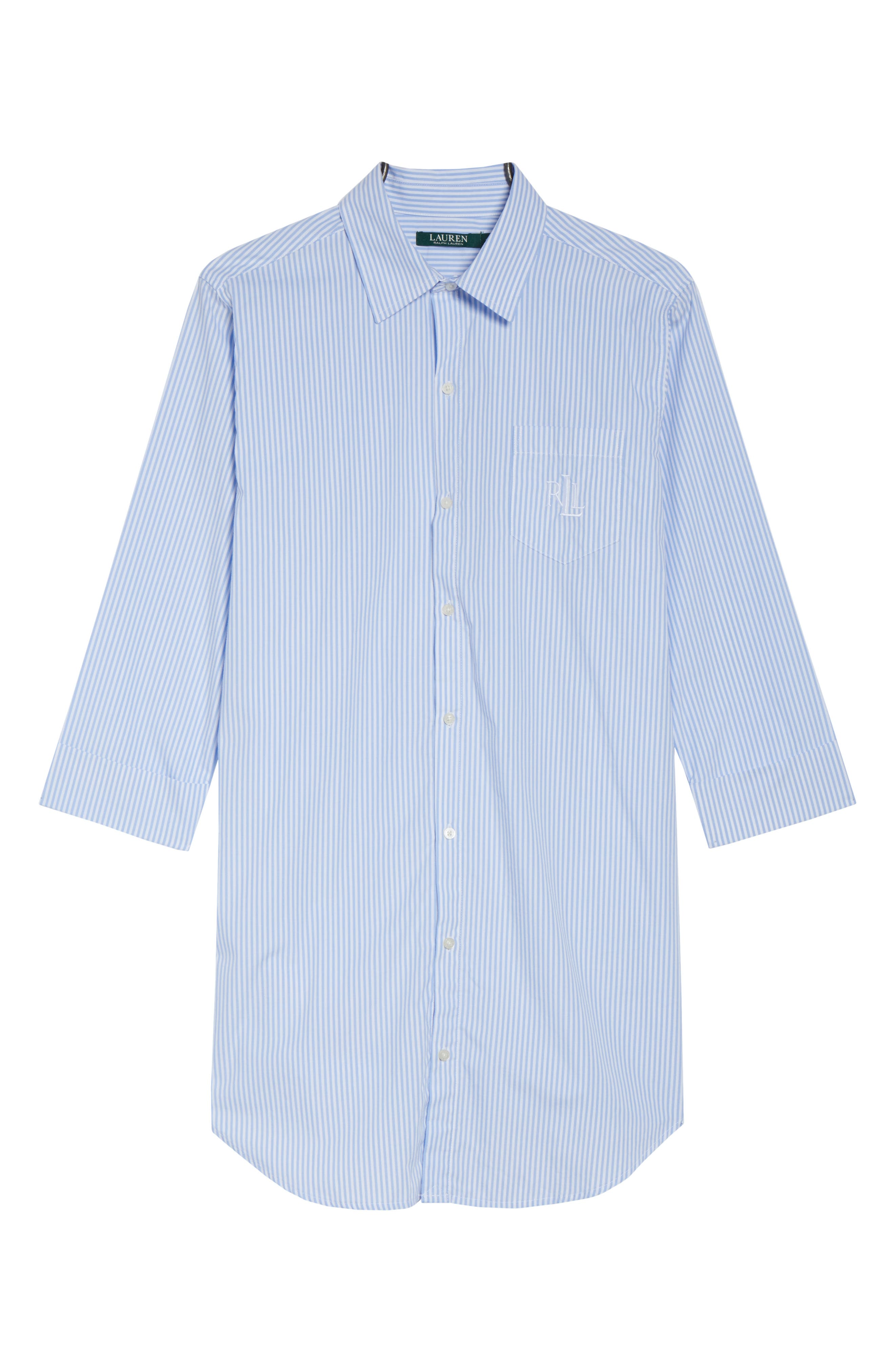 Cotton Poplin Sleep Shirt,                             Alternate thumbnail 7, color,                             452