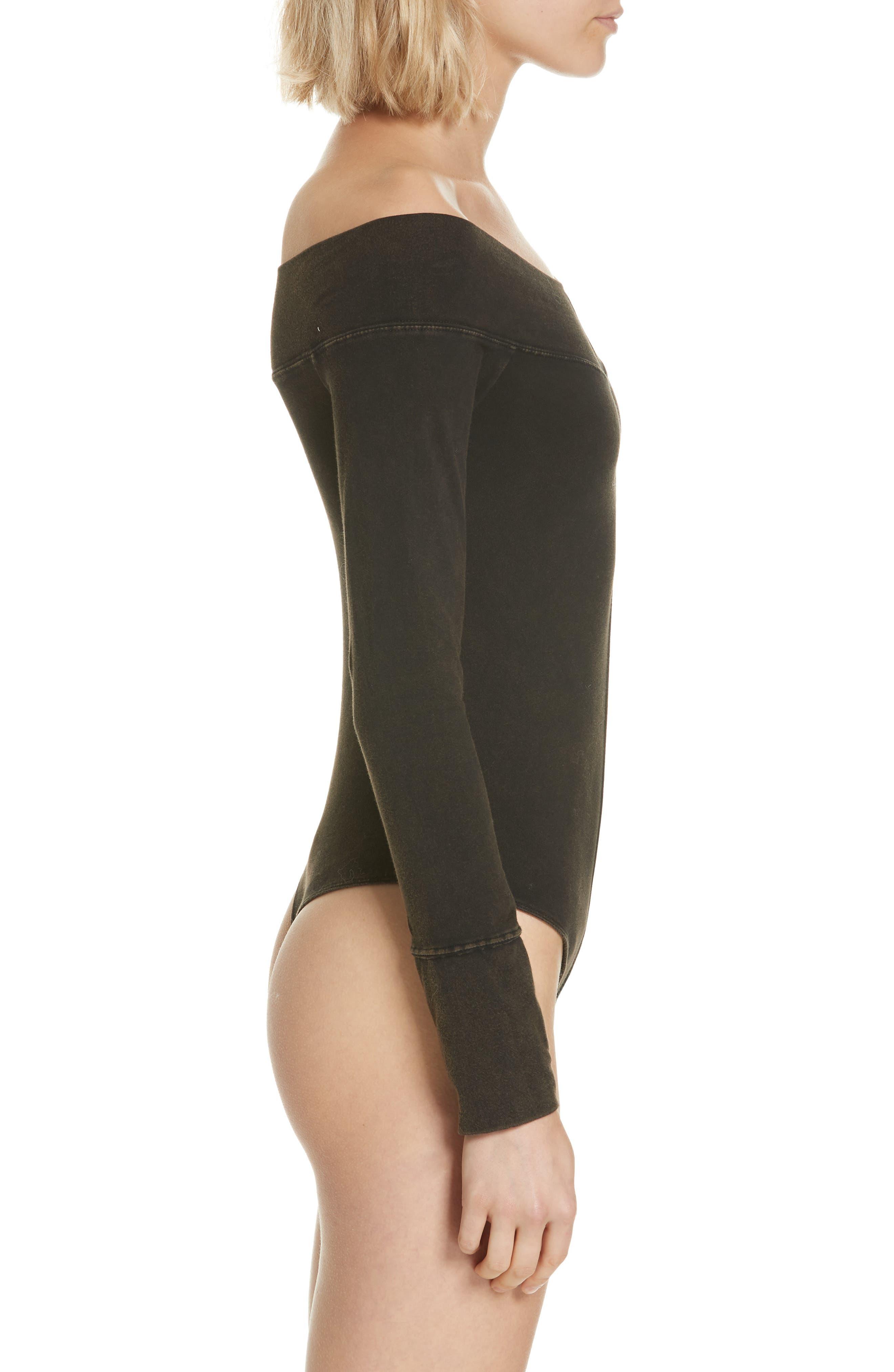 Zone Out Bodysuit,                             Alternate thumbnail 4, color,                             BLACK