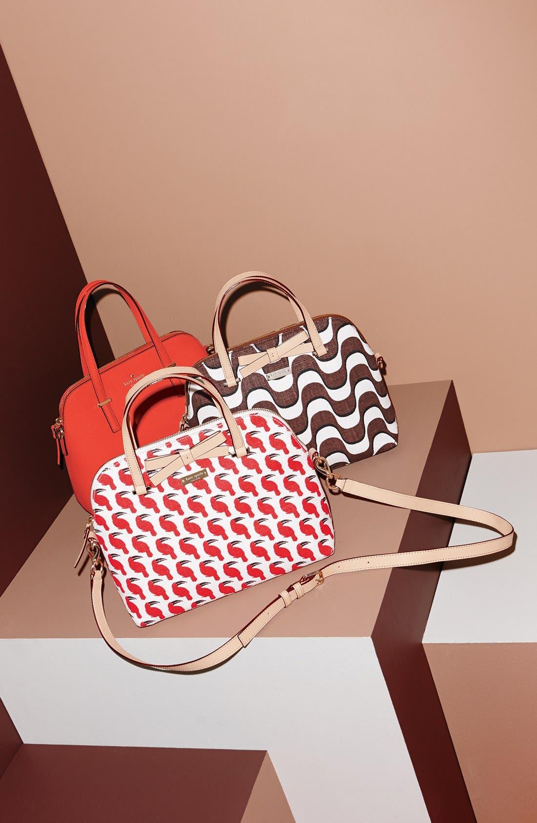 'cedar street - maise' leather satchel,                             Alternate thumbnail 3, color,                             075