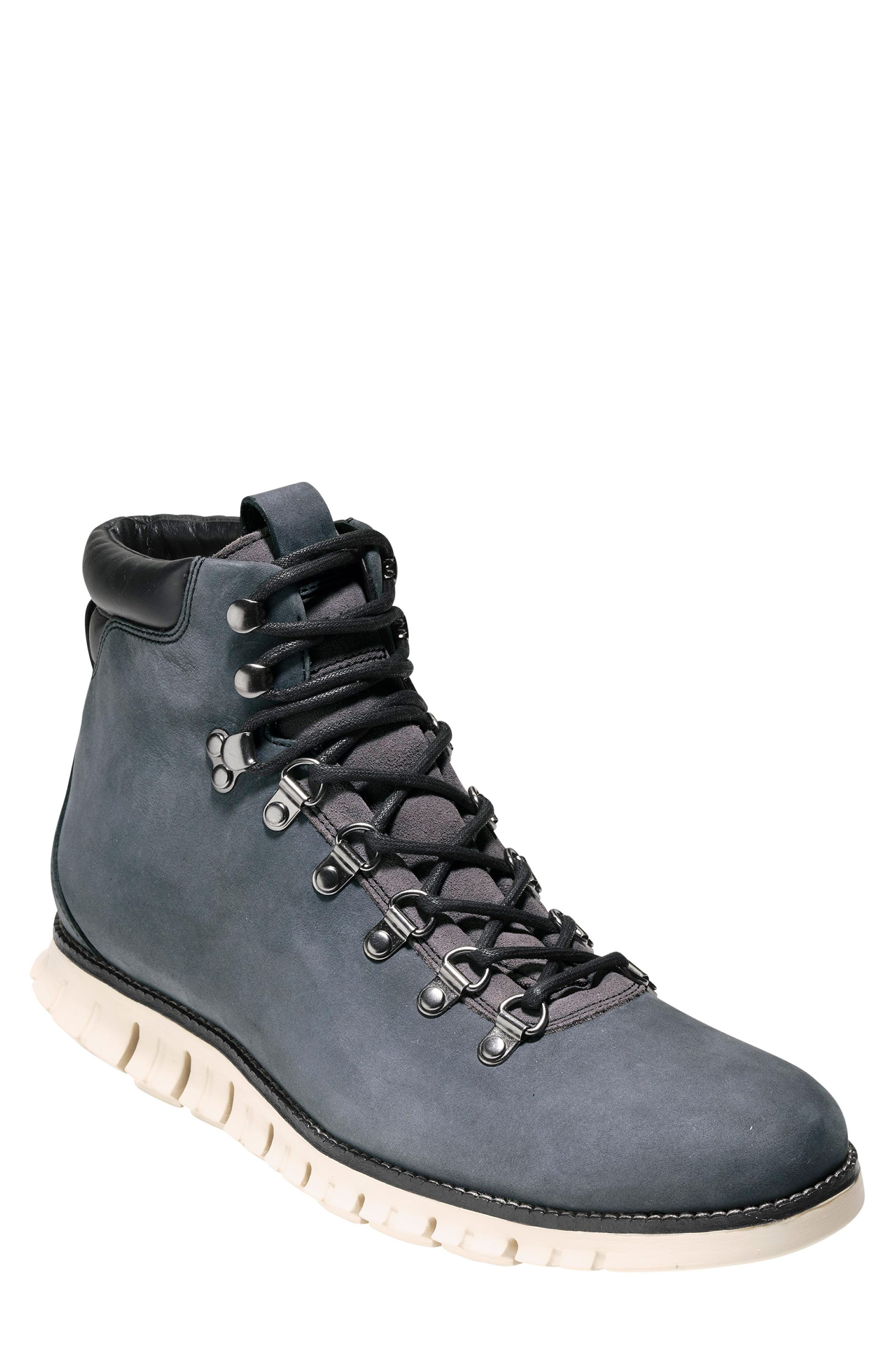 ZeroGrand Water Resistant Hiker Boot,                             Main thumbnail 1, color,                             GREY/ IVY LEATHER