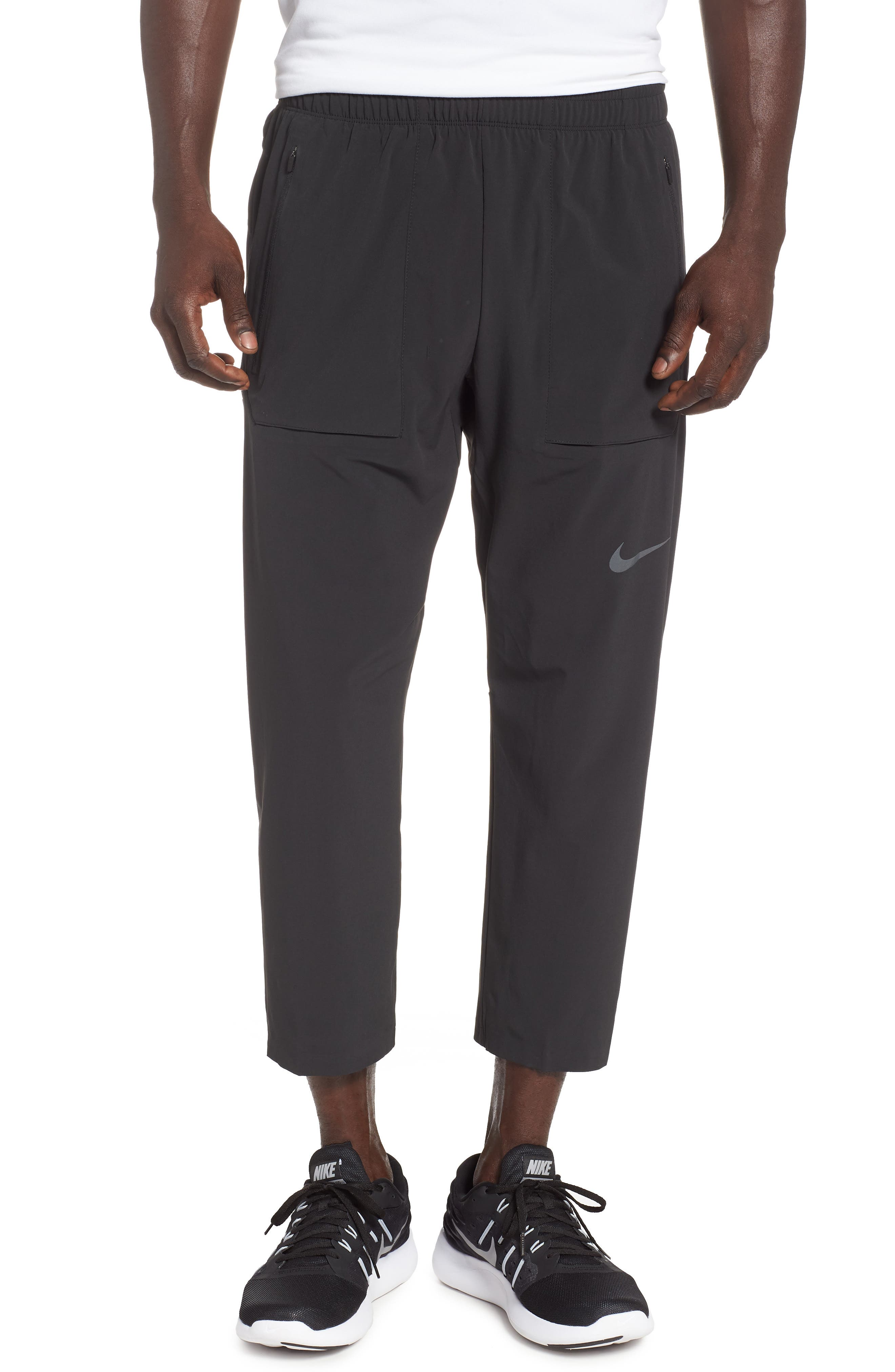 Run Division Running Pants,                         Main,                         color, BLACK/ BLACK