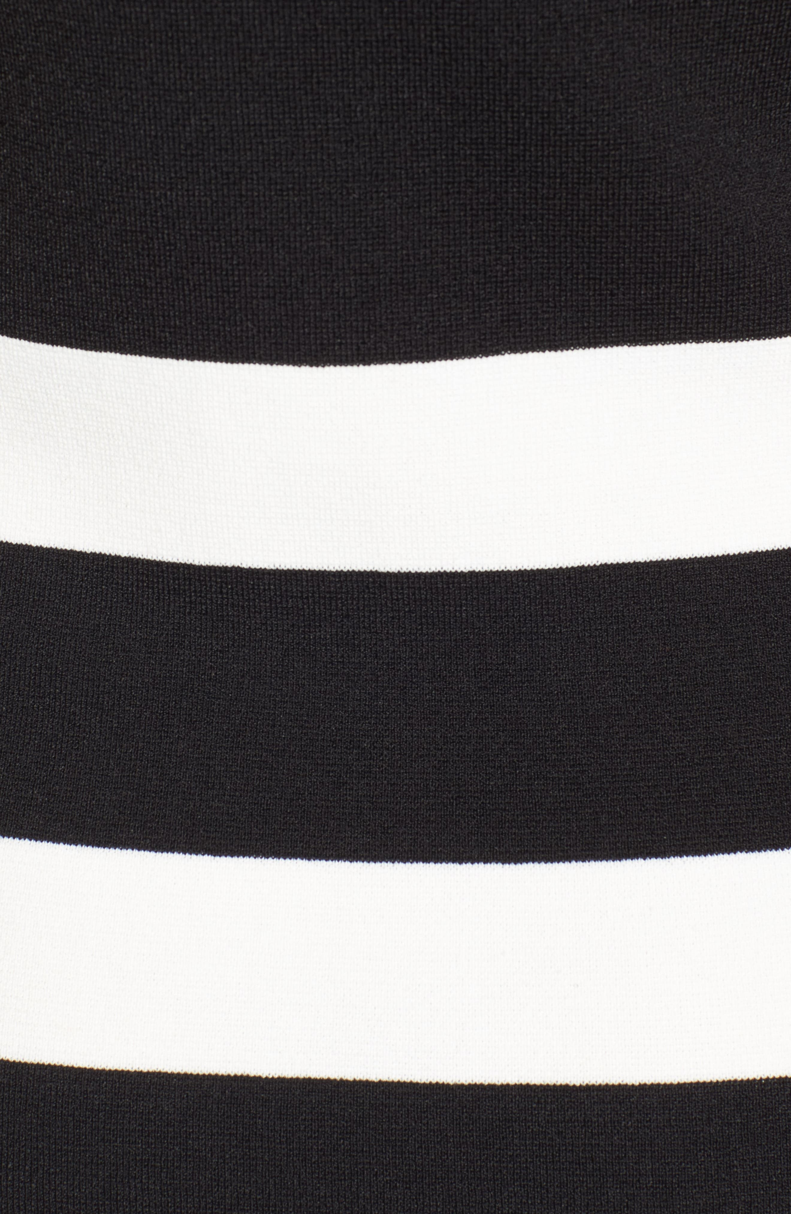 Bow Back Striped Sweater Dress,                             Alternate thumbnail 5, color,                             001
