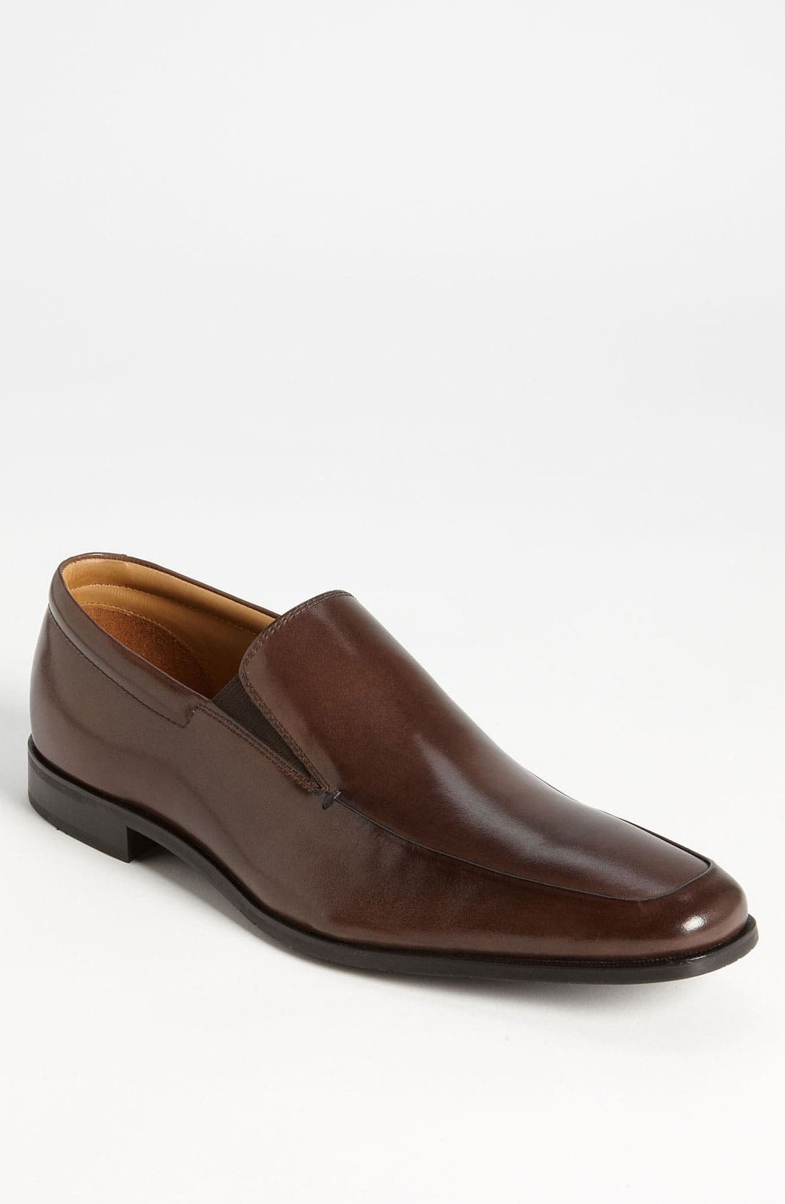'Elliot' Venetian Loafer,                             Main thumbnail 1, color,                             BROWN LEATHER