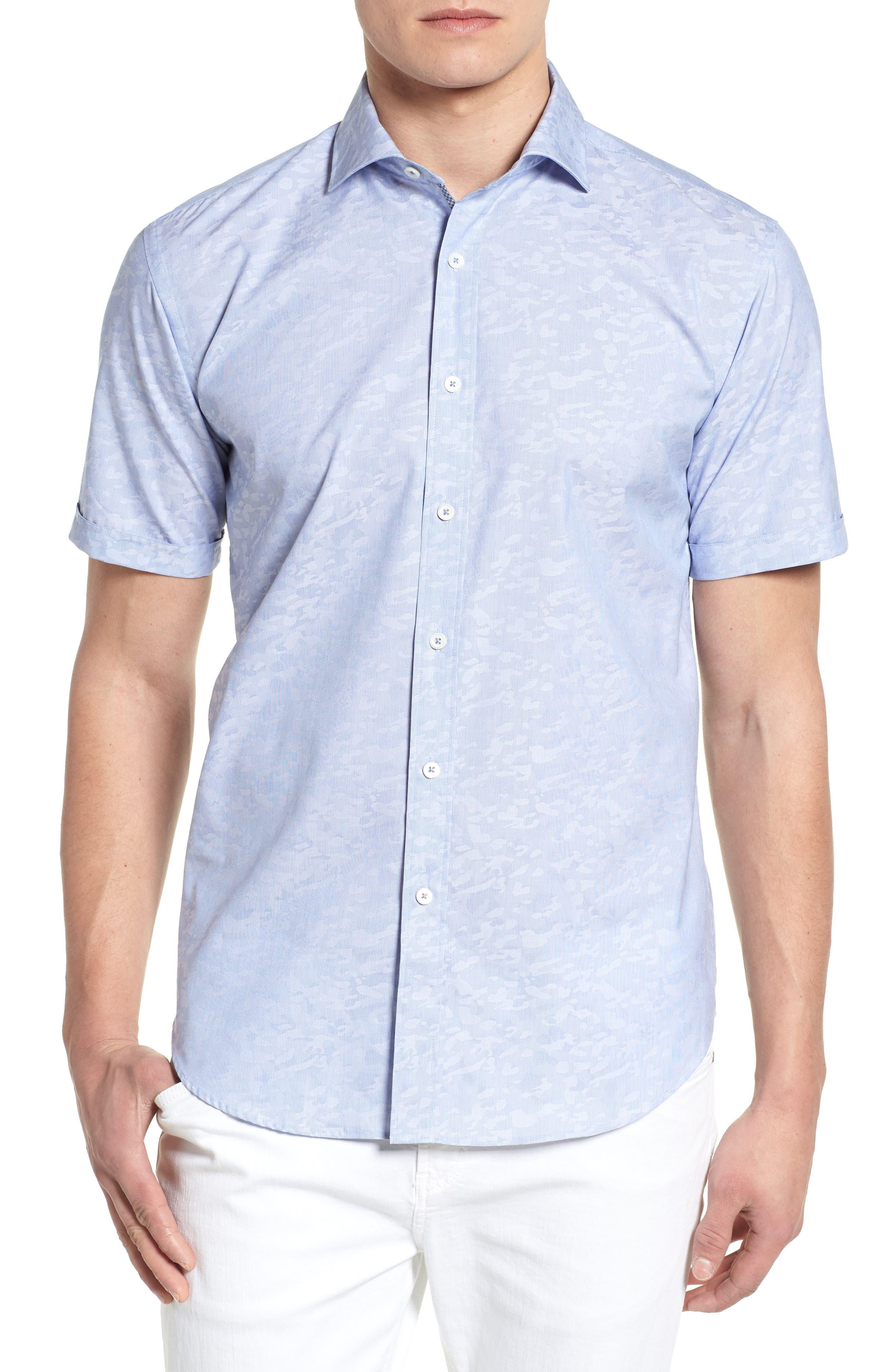 Woven Sport Shirt,                             Main thumbnail 1, color,                             CLASSIC BLUE