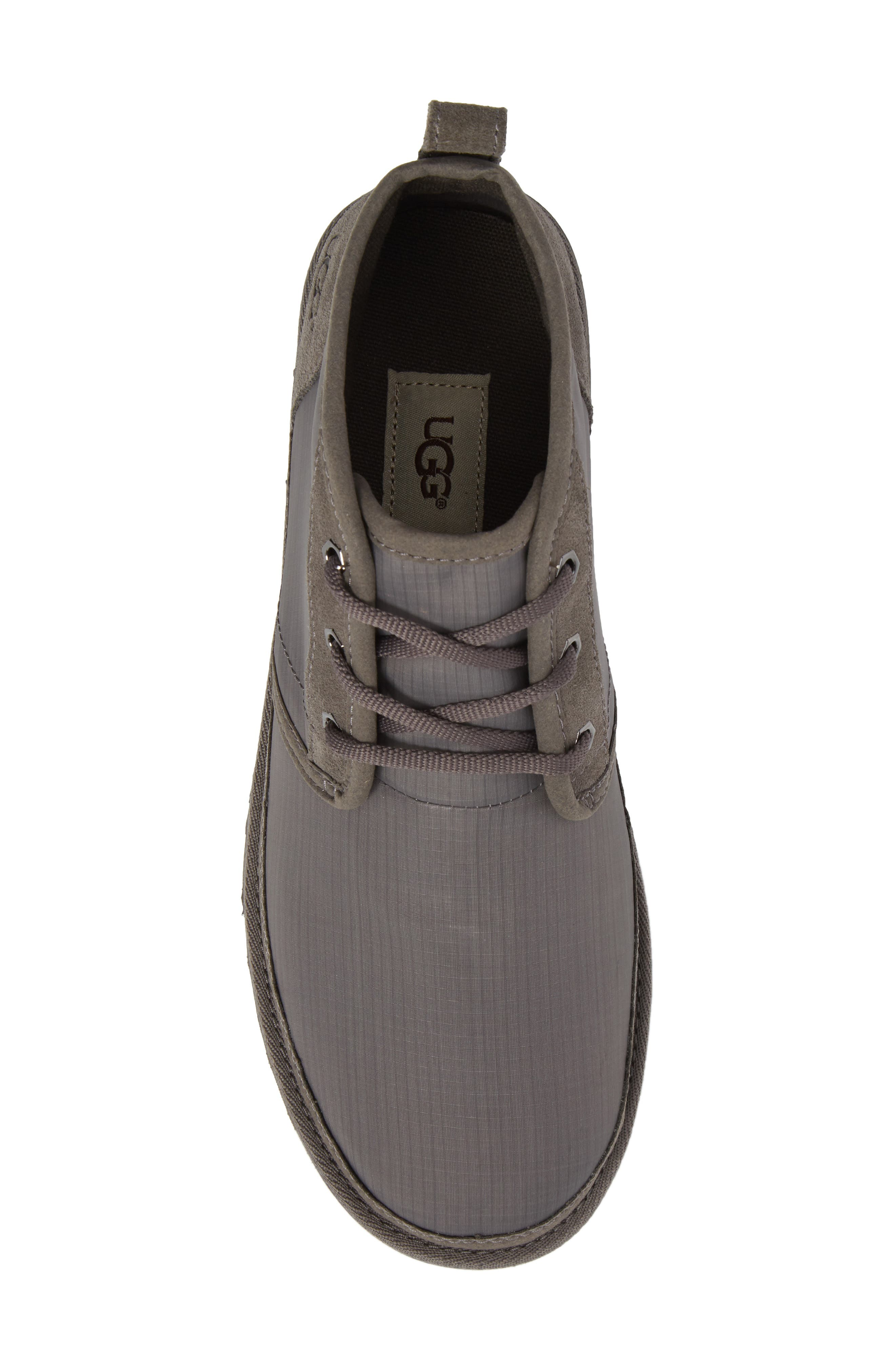 Neumel Ripstop Chukka Boot,                             Alternate thumbnail 5, color,                             CHARCOAL LEATHER