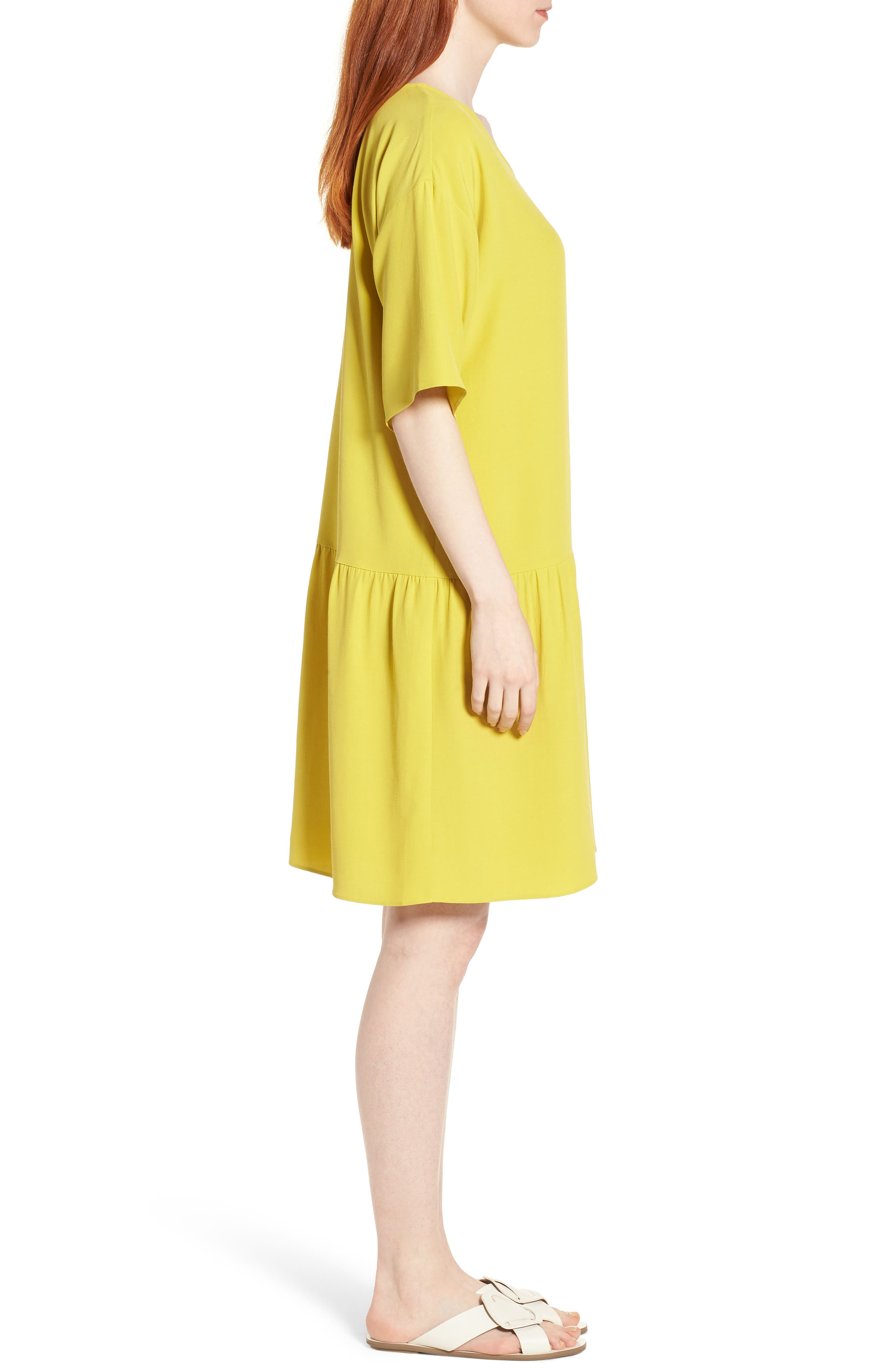 Drop Waist Tencel<sup>®</sup> Lyocell Blend Dress,                             Alternate thumbnail 13, color,