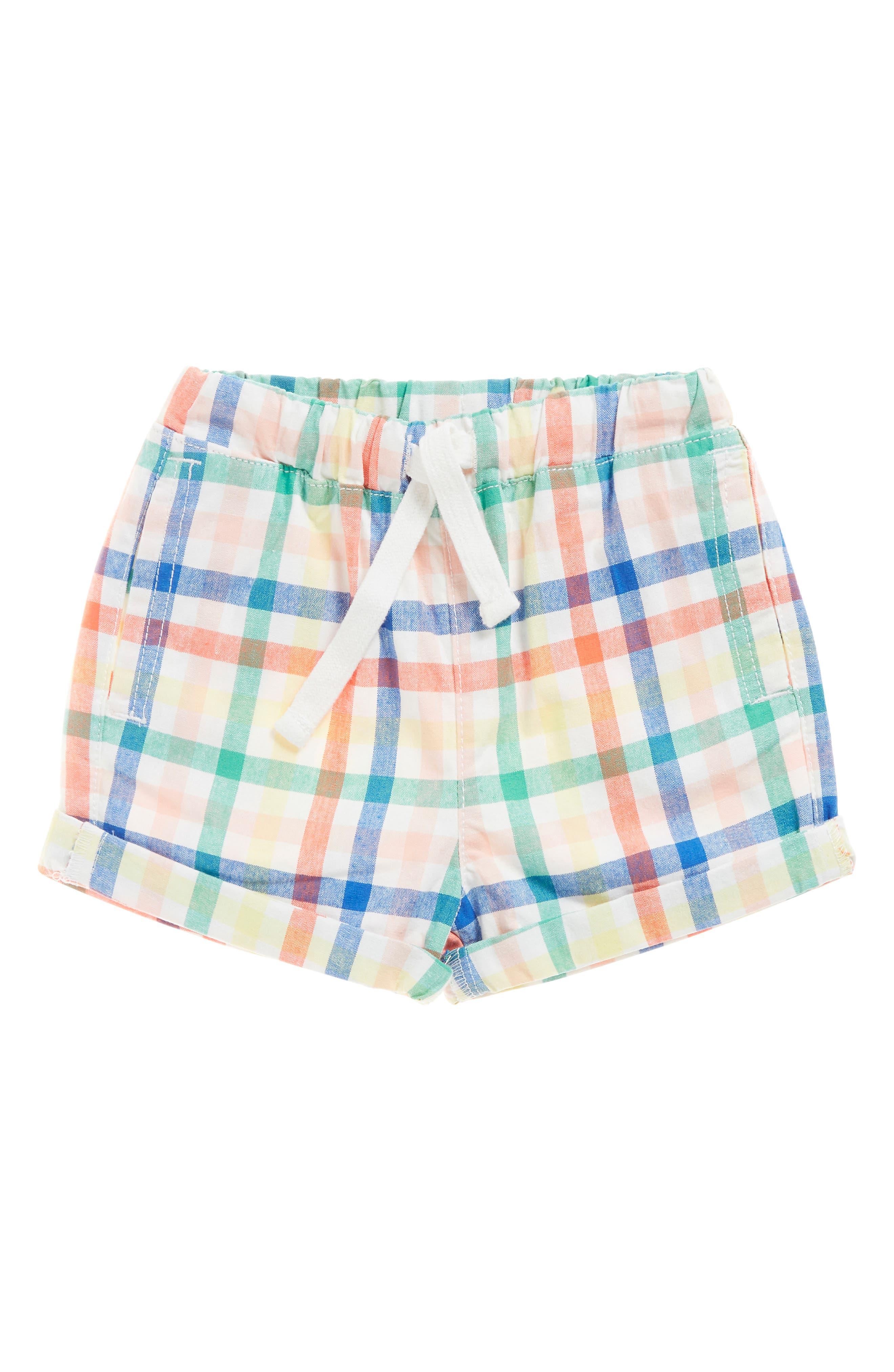 SEED HERITAGE,                             Plaid Woven Shorts,                             Main thumbnail 1, color,                             MULTI