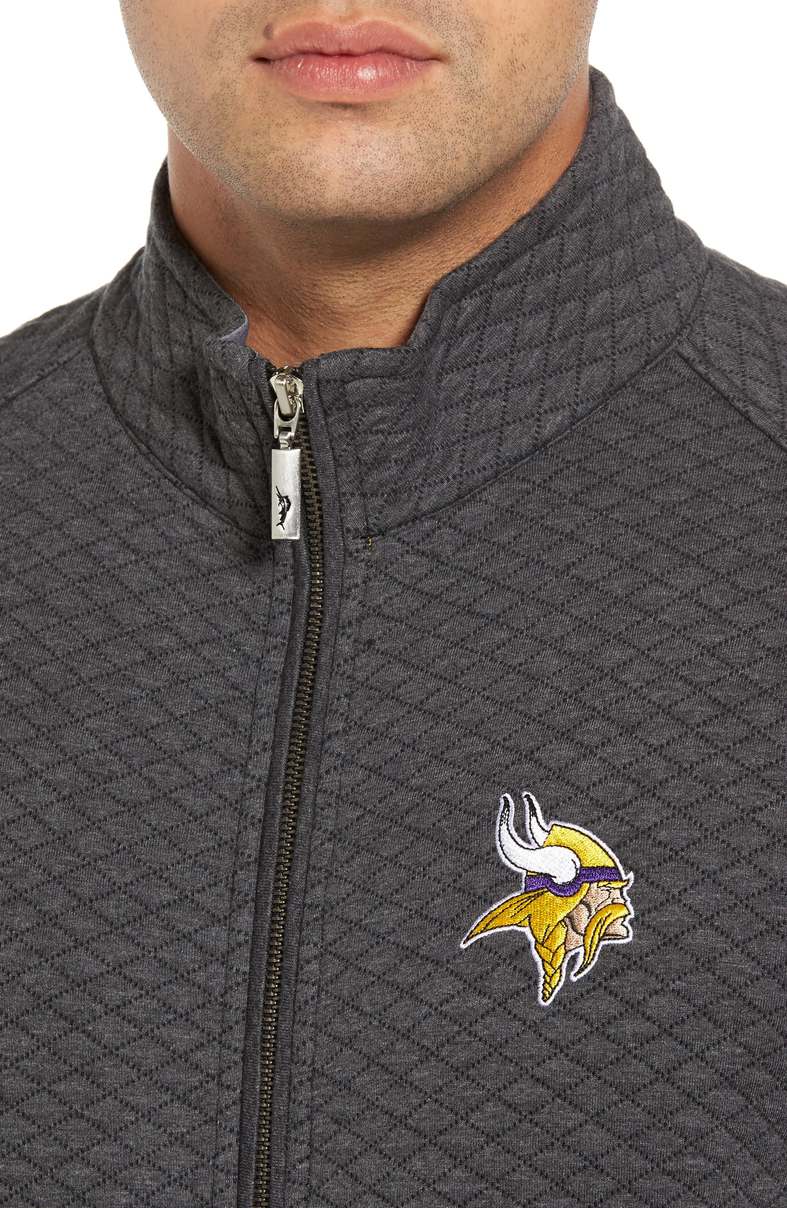 NFL Quiltessential Full Zip Sweatshirt,                             Alternate thumbnail 124, color,