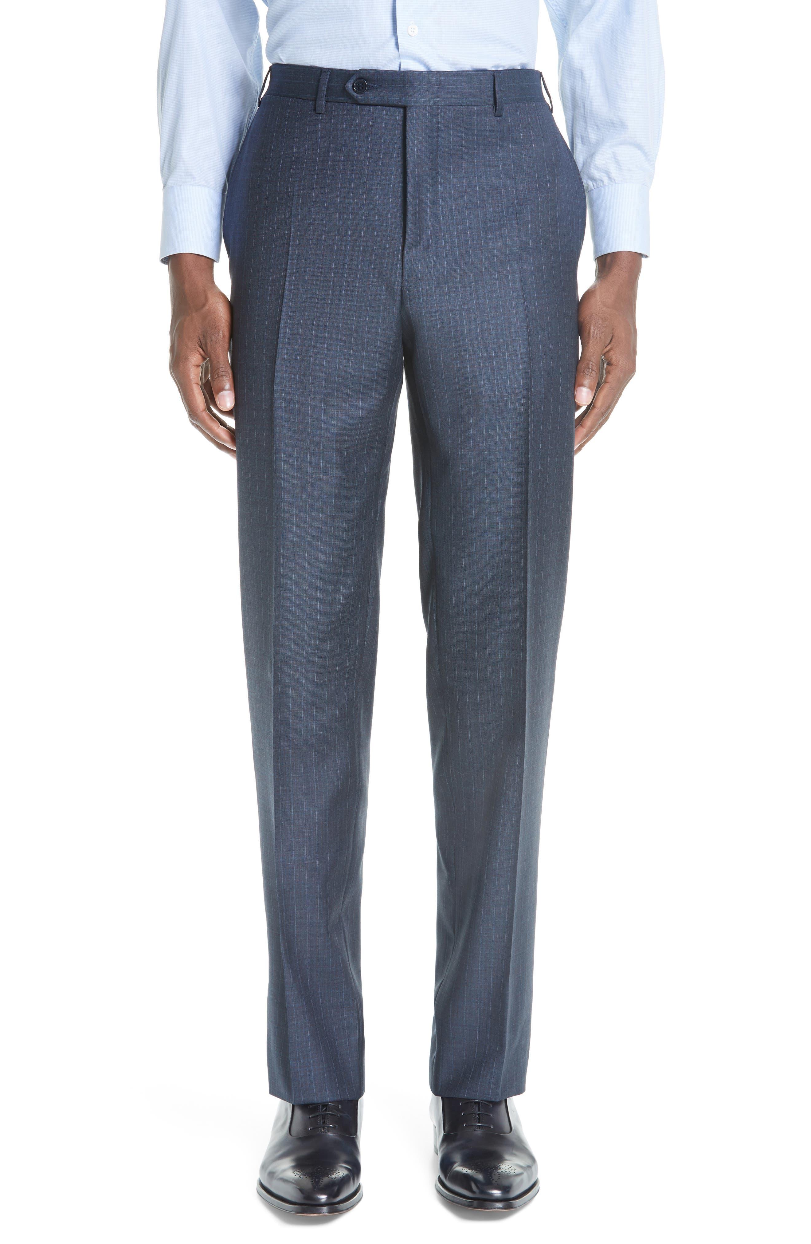 Classic Fit Stripe Wool Suit,                             Alternate thumbnail 5, color,                             400