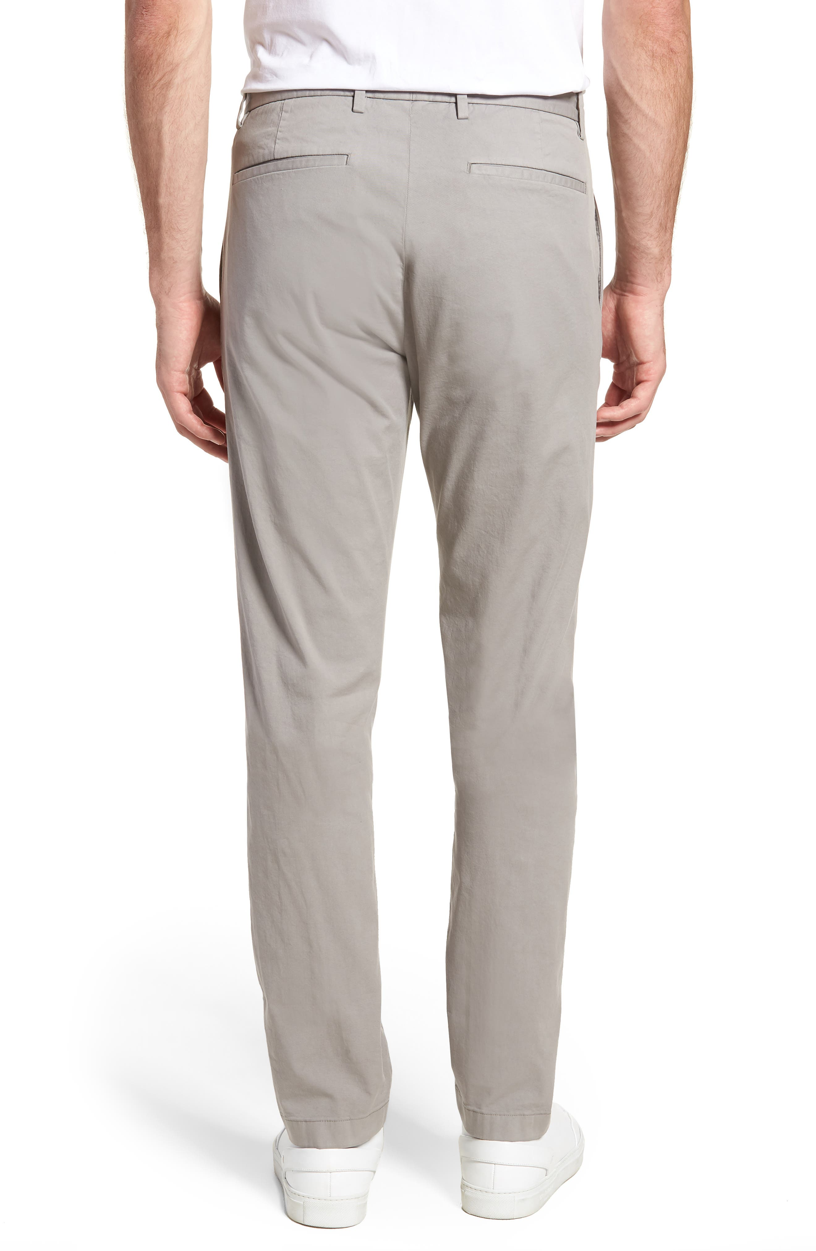 Zaine Patton Flat Front Stretch Solid Cotton Pants,                             Alternate thumbnail 2, color,                             DIM