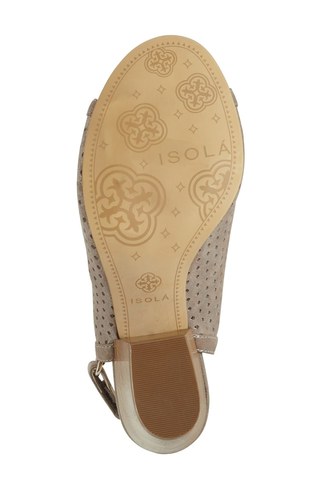 'Lora' Perforated Open-Toe Bootie Sandal,                             Alternate thumbnail 4, color,                             040