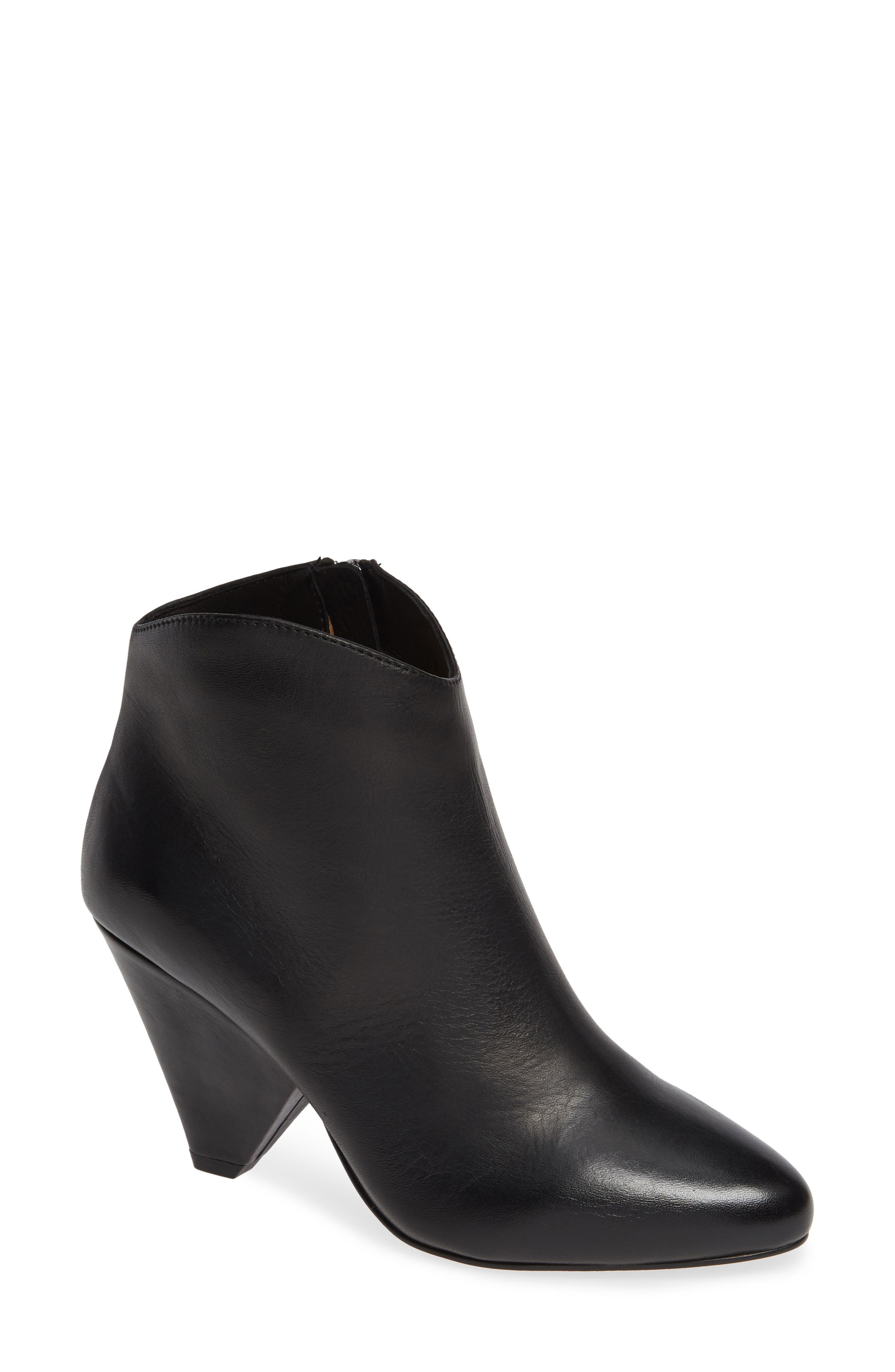Isabel Bootie,                         Main,                         color, BLACK LEATHER