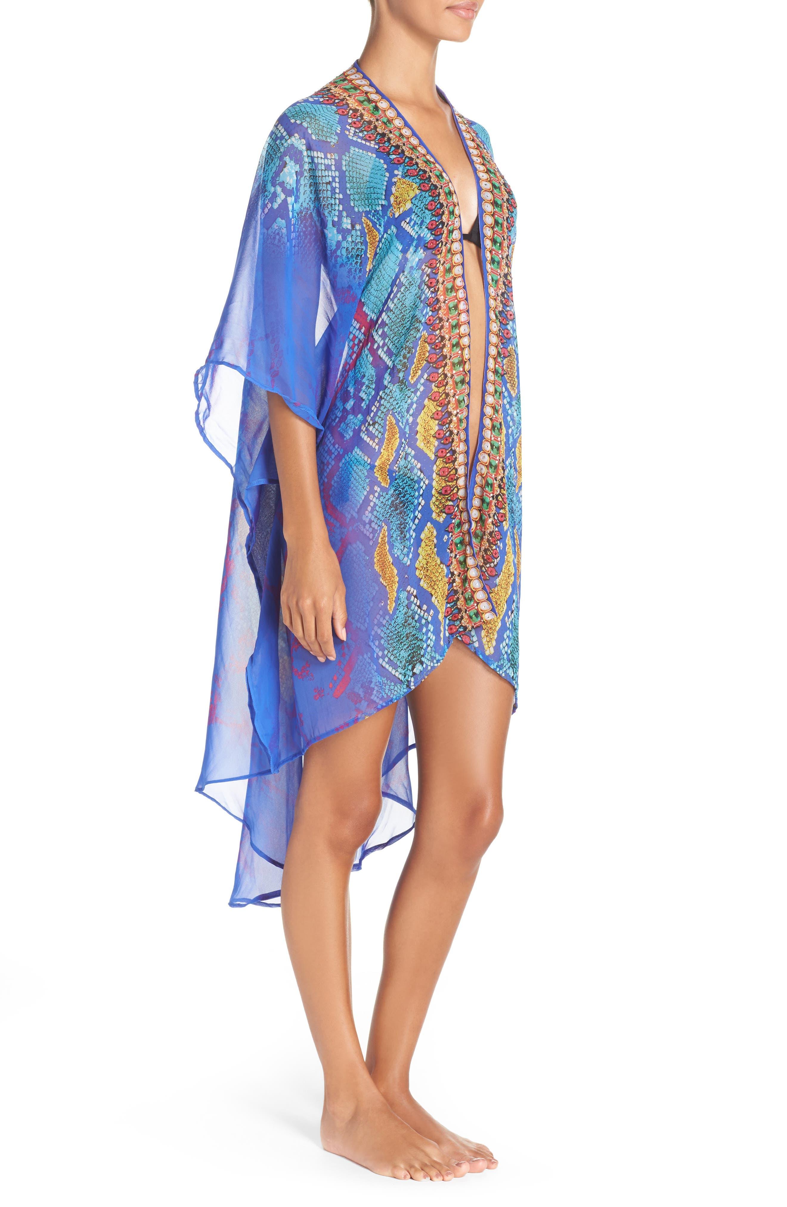 'Bahamas' Kimono,                             Alternate thumbnail 3, color,                             BLUE MULTI