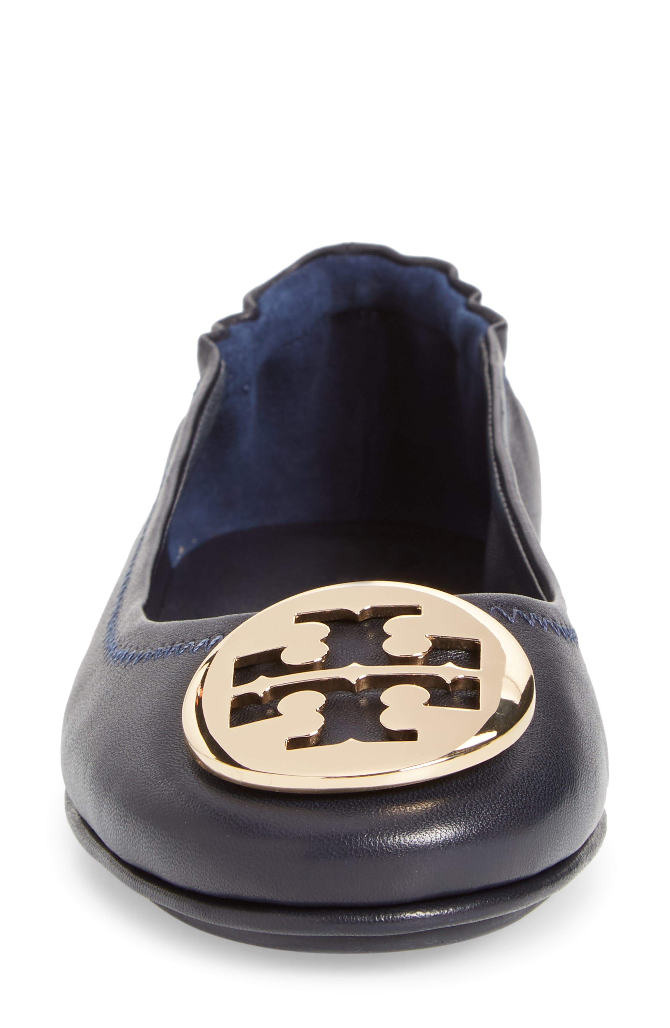 'Minnie' Travel Ballet Flat,                             Alternate thumbnail 4, color,                             PERFECT NAVY