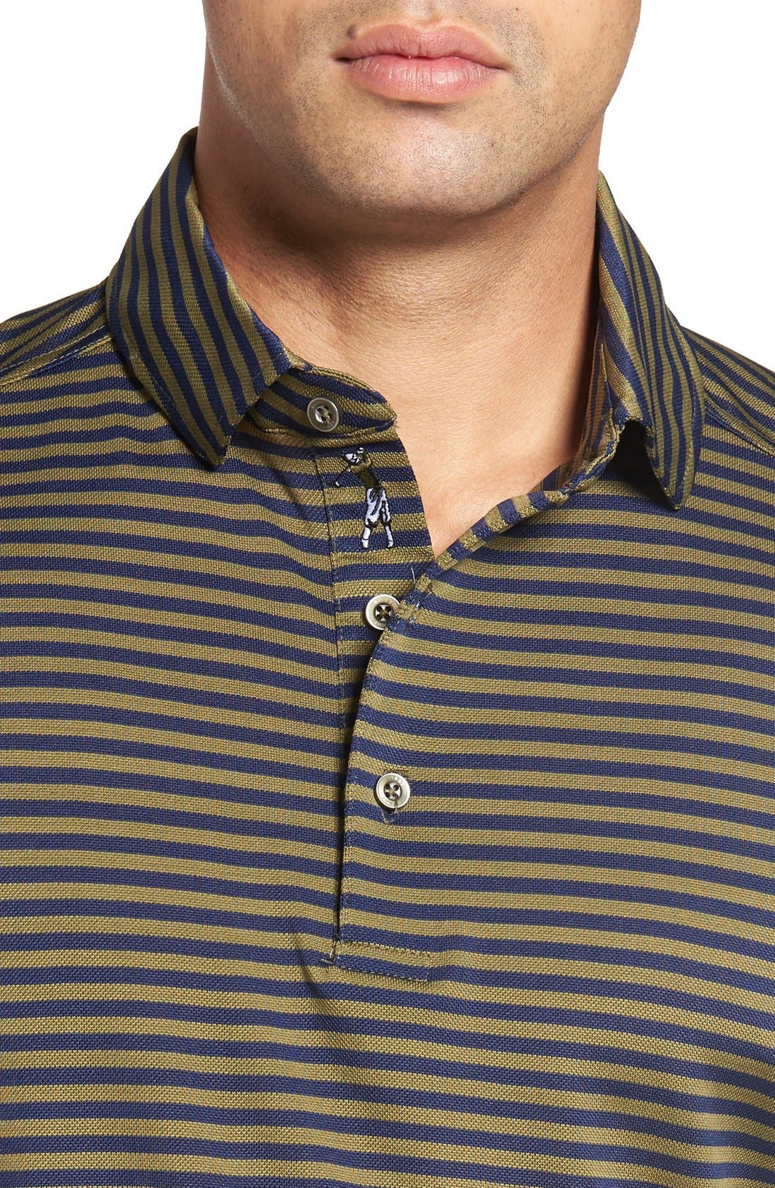 XH2O Feed Stripe Stretch Golf Polo,                             Alternate thumbnail 62, color,