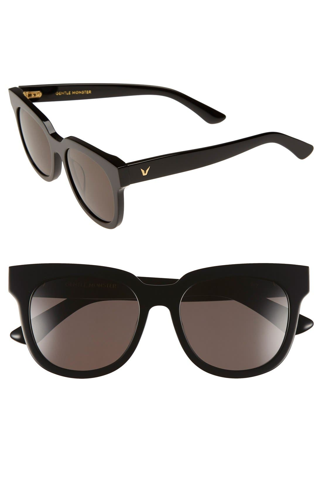 'Roy' 54mm Sunglasses, Main, color, 001