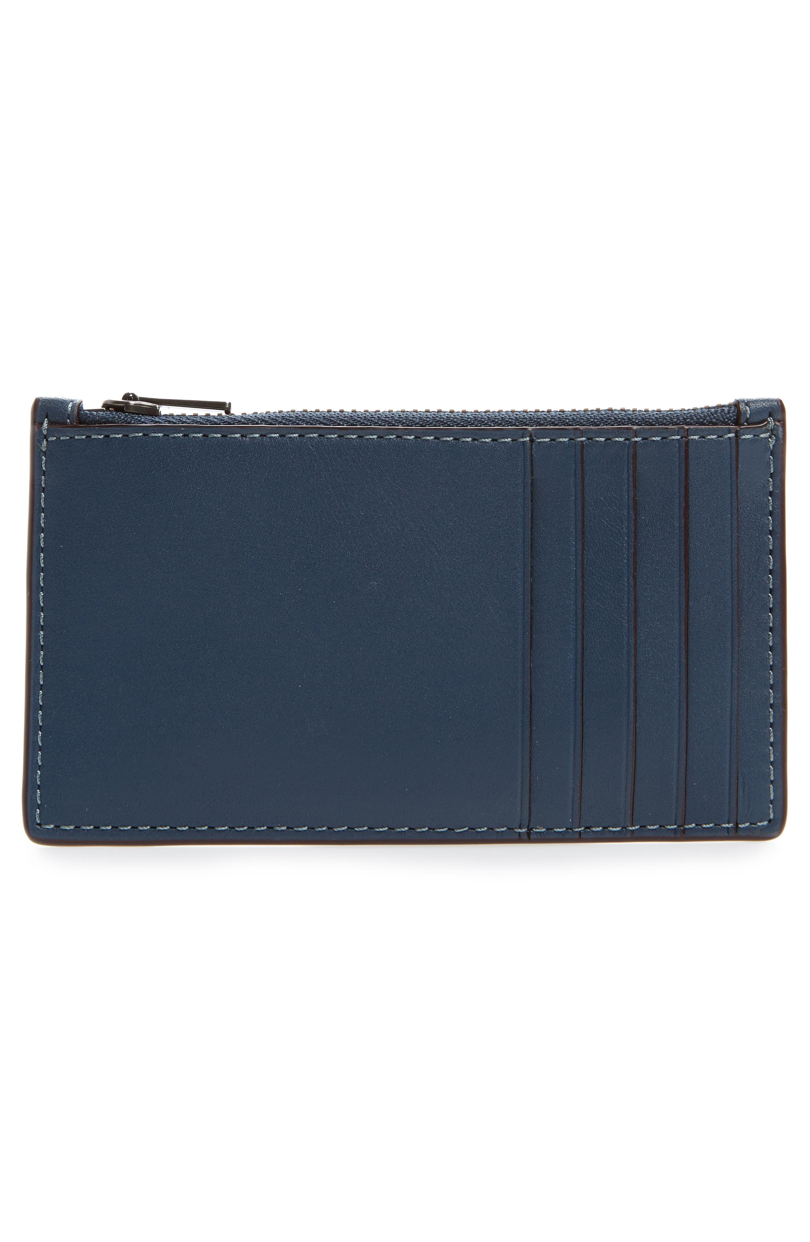 Zip Leather Card Case,                             Alternate thumbnail 5, color,