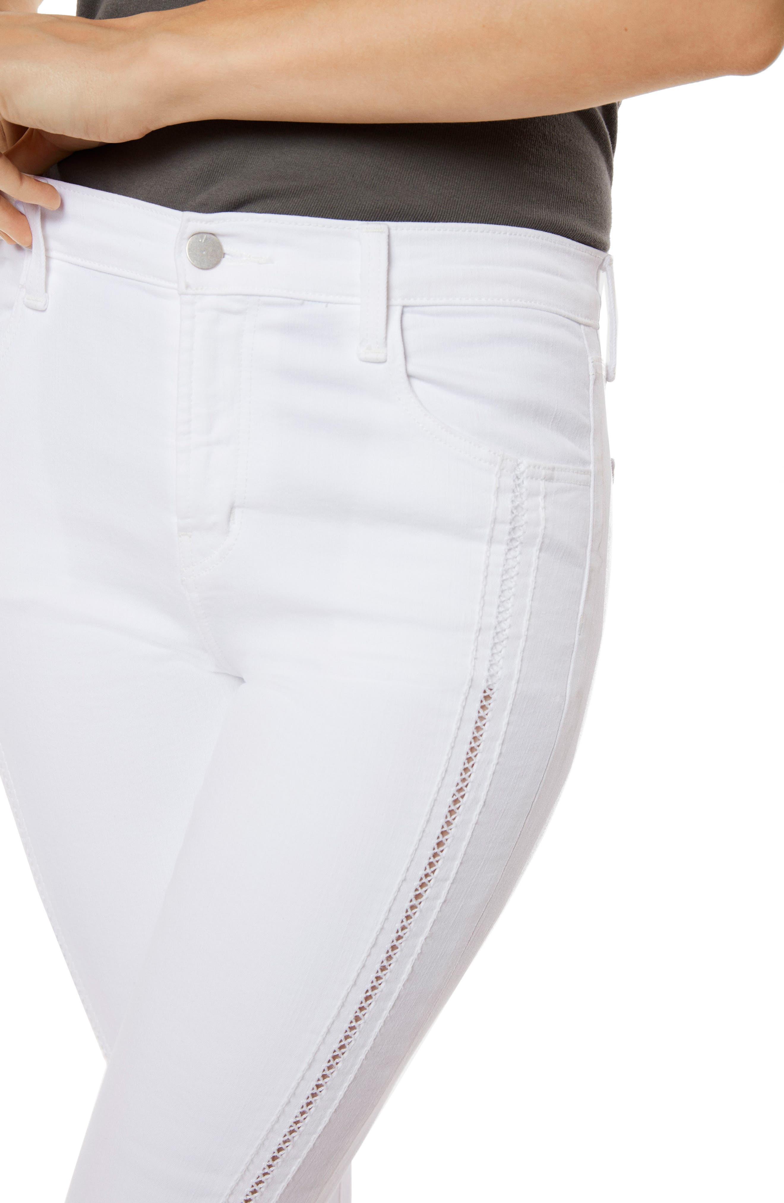 Alana High Waist Crop Skinny Jeans,                             Alternate thumbnail 4, color,                             160