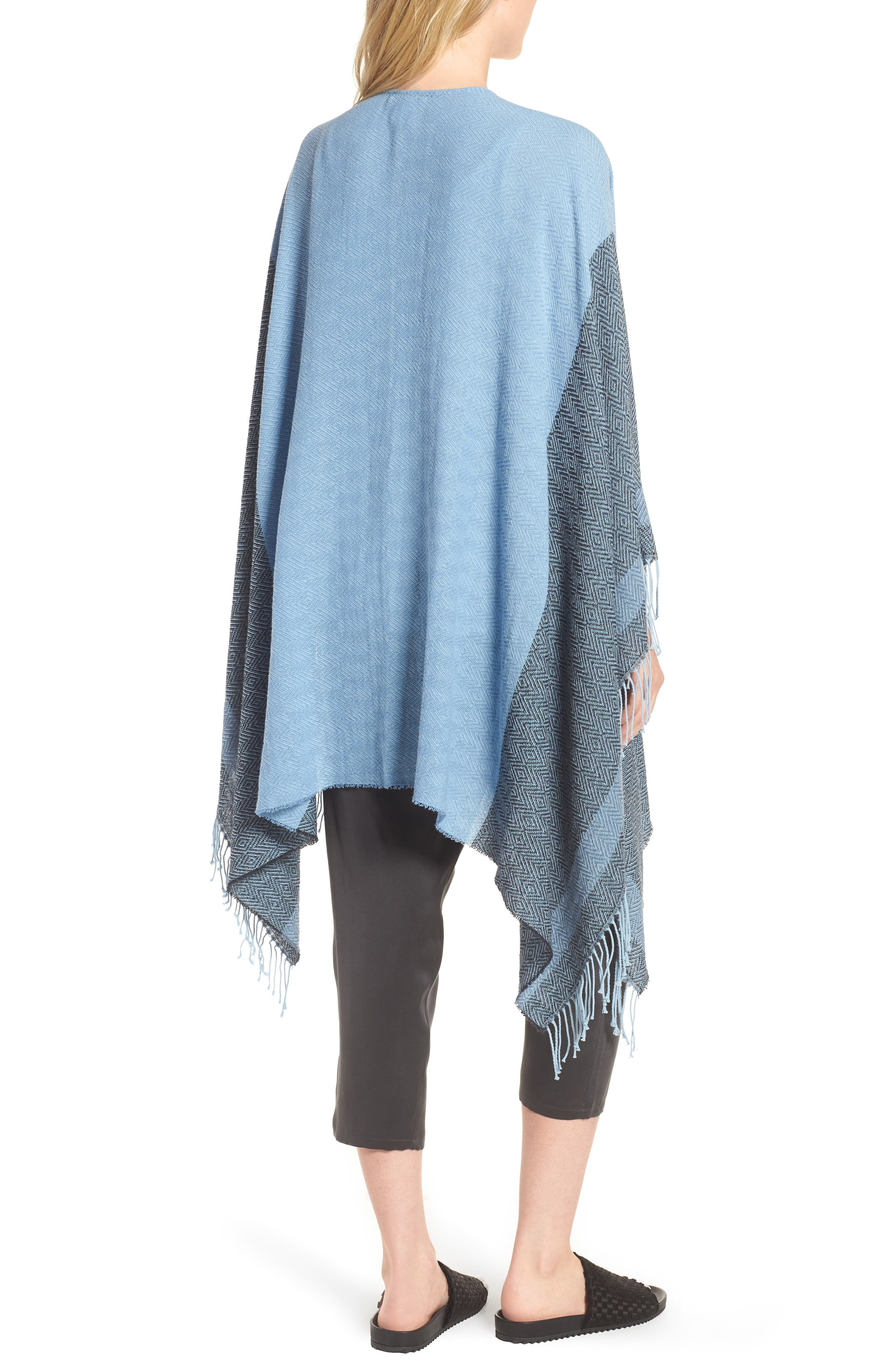Recycled Cotton Poncho Wrap,                             Alternate thumbnail 2, color,