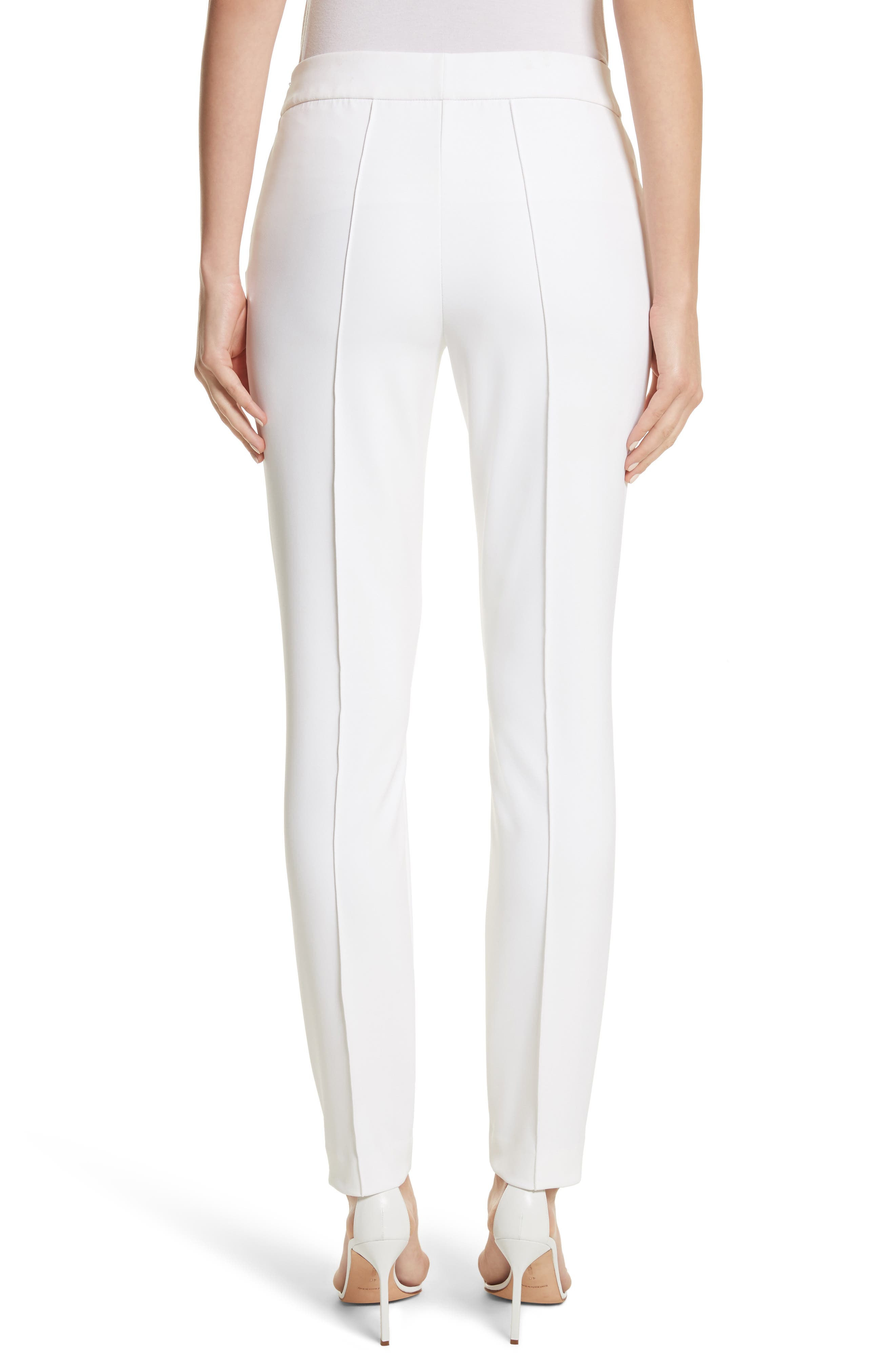 'Gramercy' Acclaimed Stretch Pants,                             Alternate thumbnail 2, color,                             WHITE