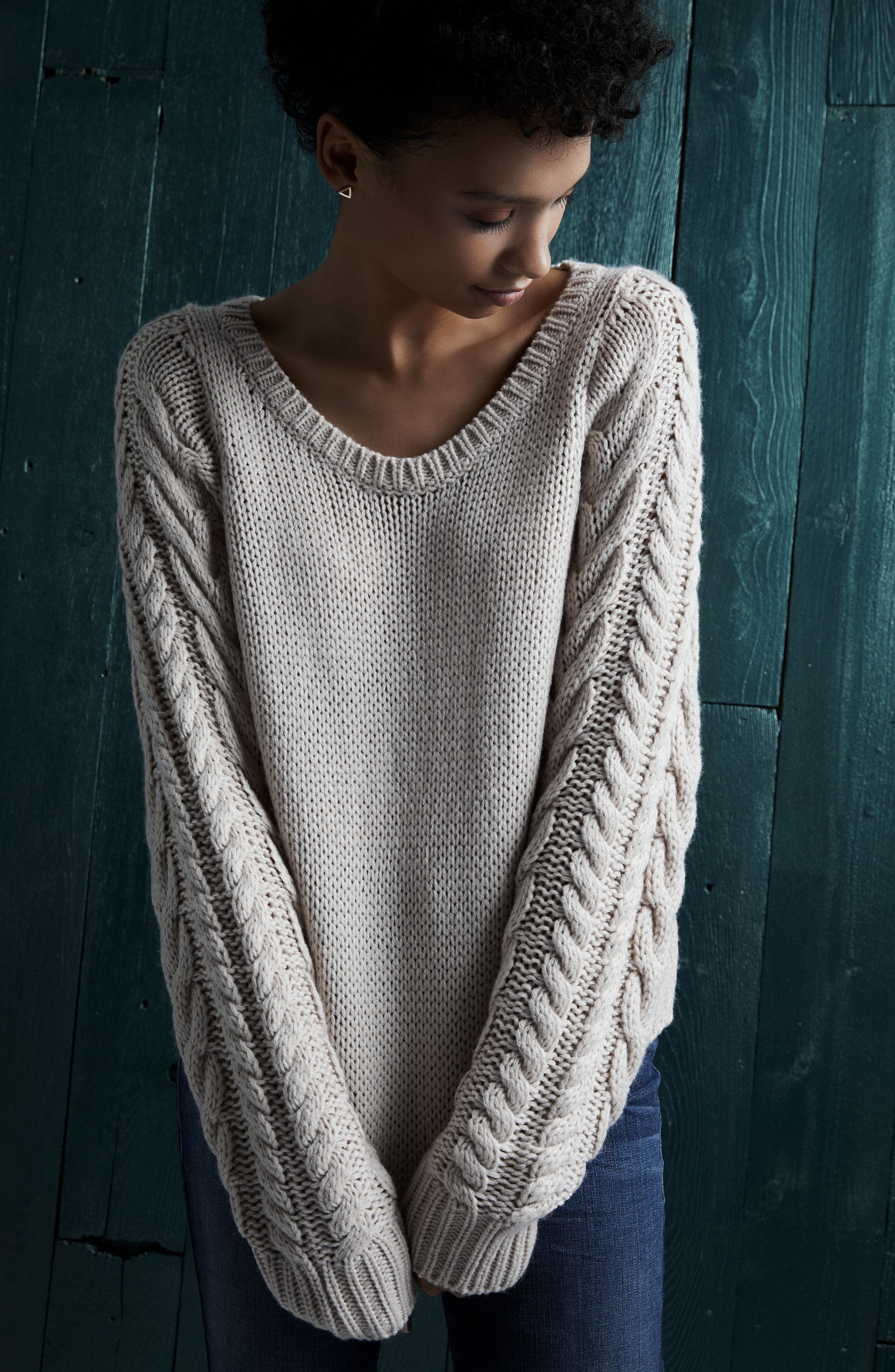 Cable Sleeve Pullover,                             Alternate thumbnail 8, color,                             270
