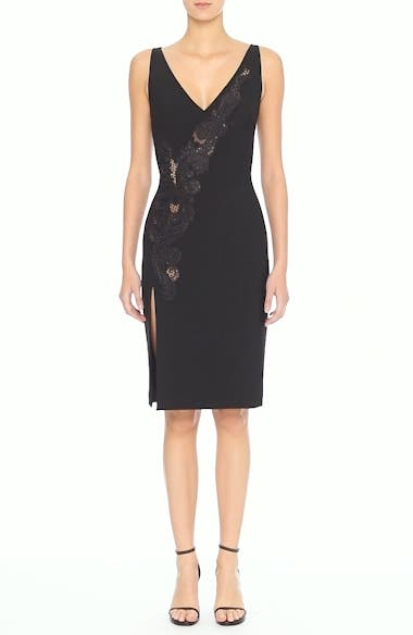 Alternate Video 6  - Versace Collection Lace Inset Sheath Dress