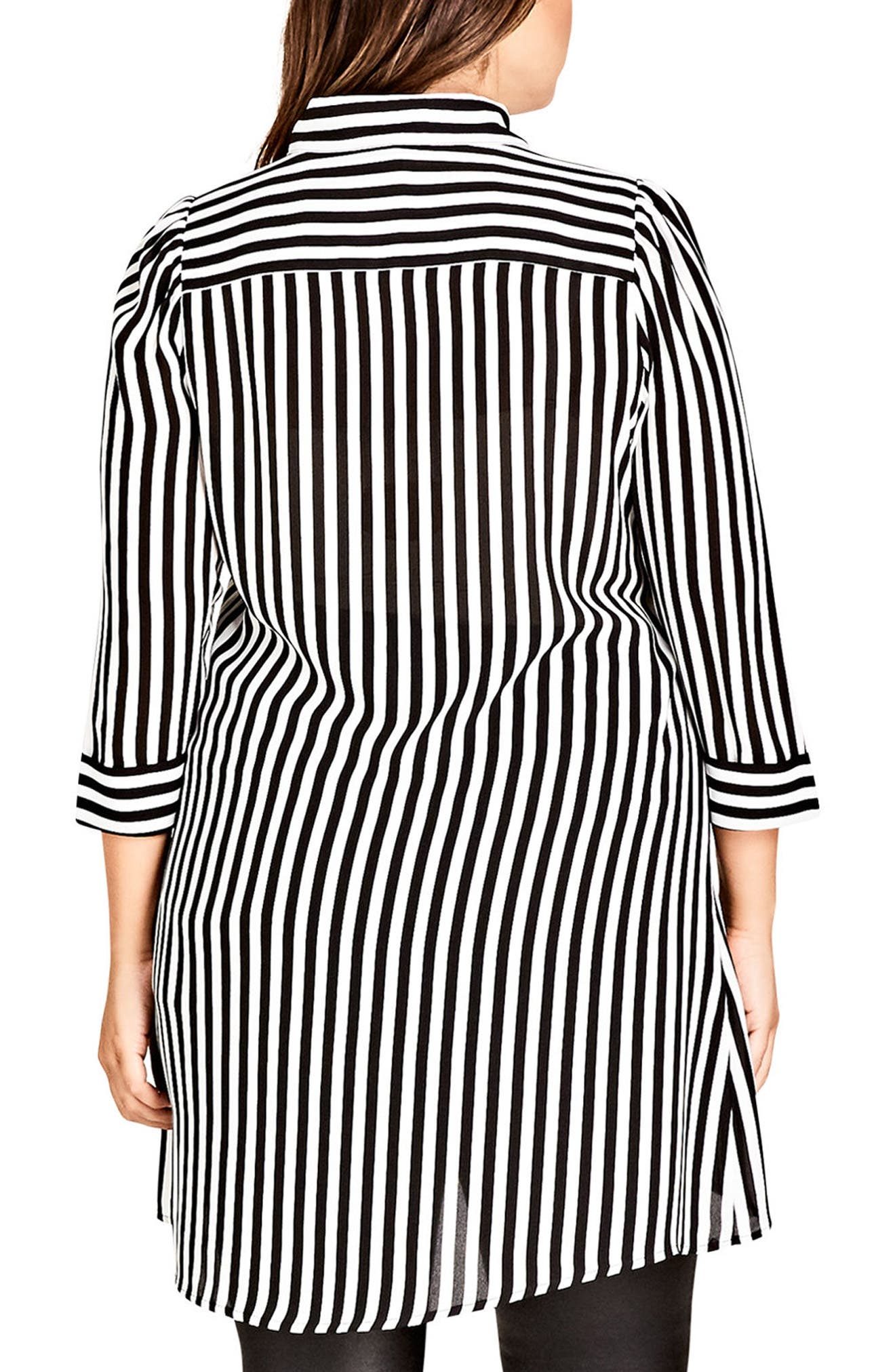 Stripe Love Tunic,                             Alternate thumbnail 2, color,                             STRIPE