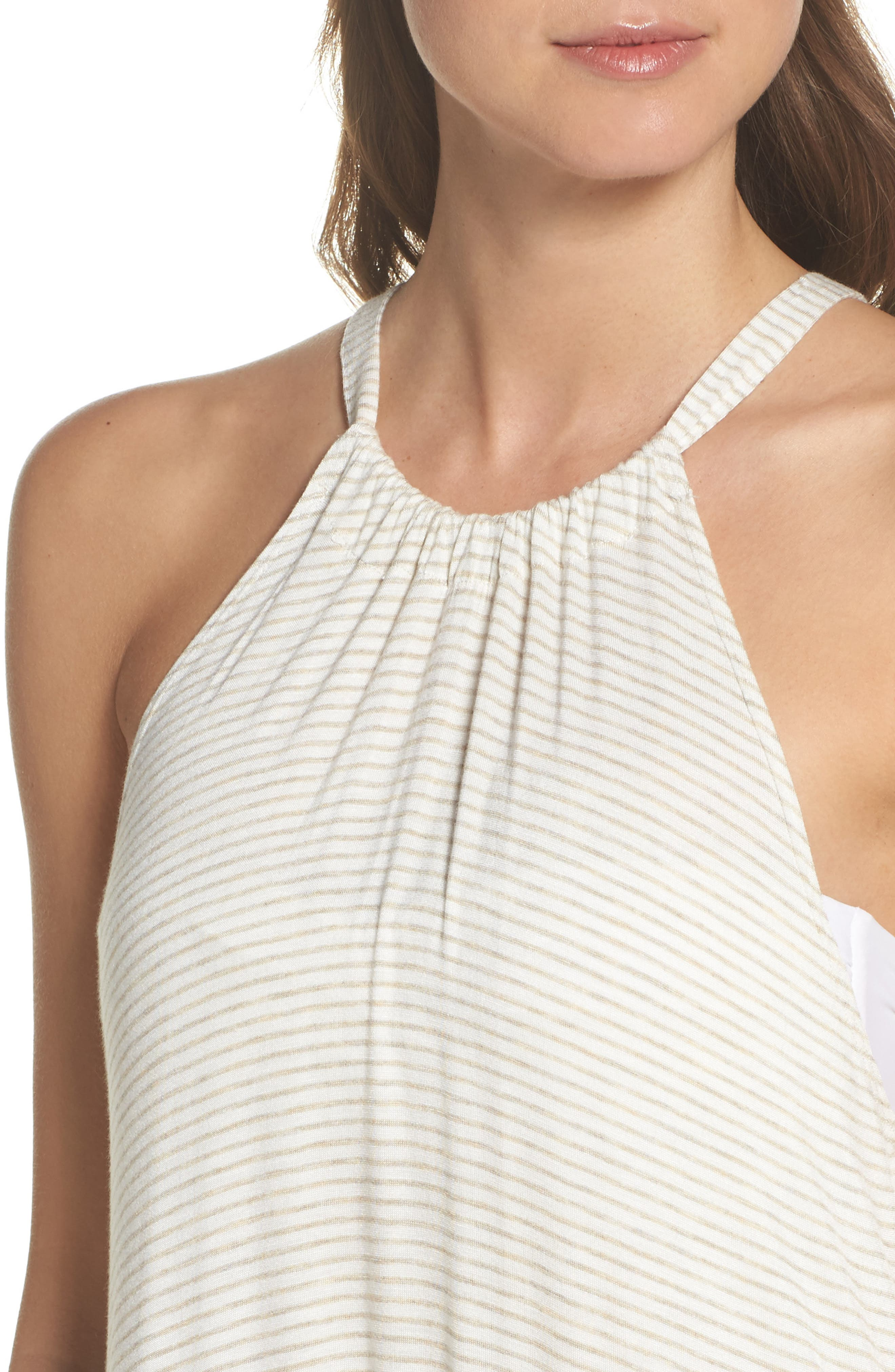 High Neck Cover-Up Dress,                             Alternate thumbnail 8, color,