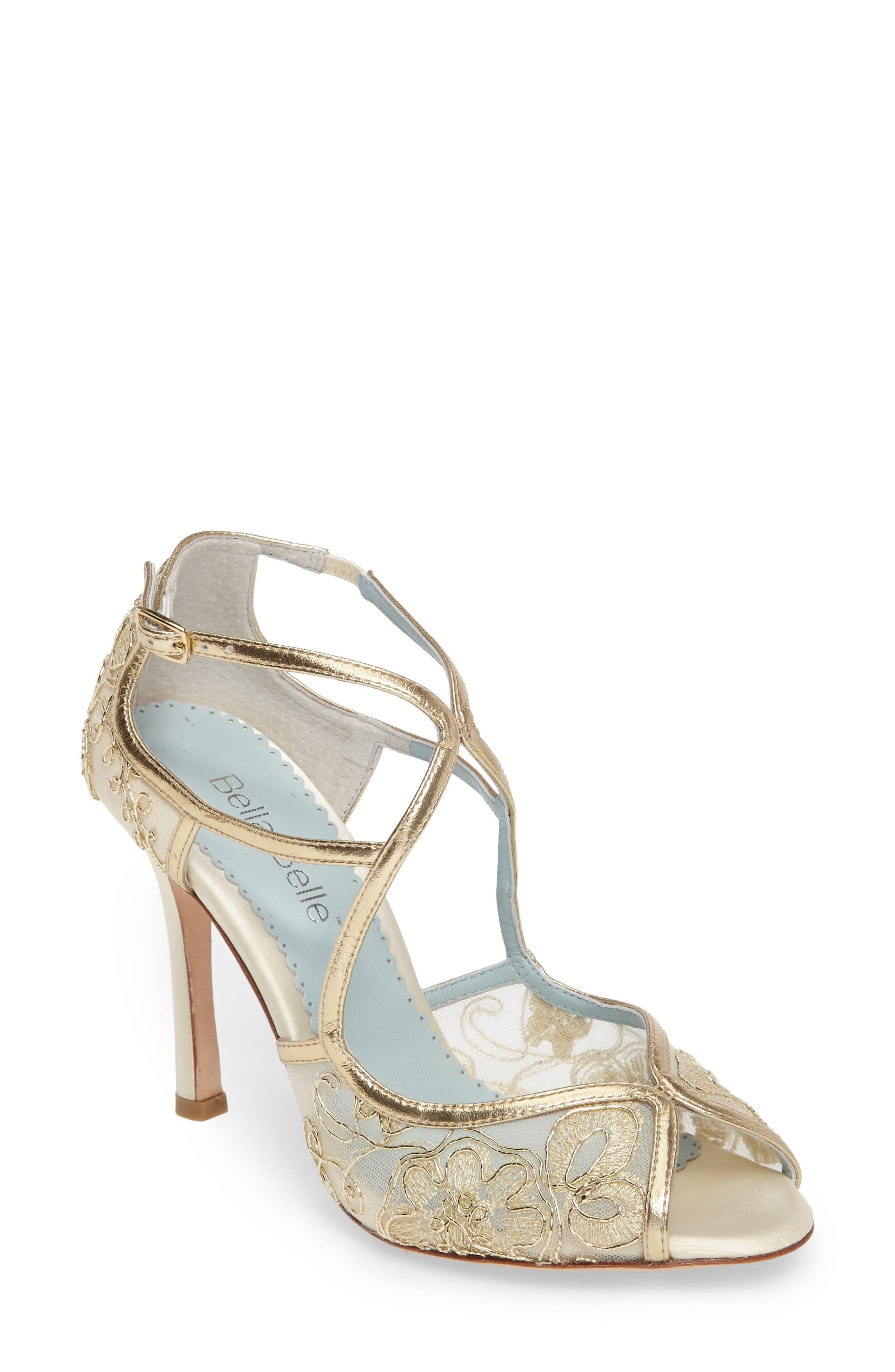 Tess Peep Toe Sandal,                         Main,                         color, GOLD LEATHER