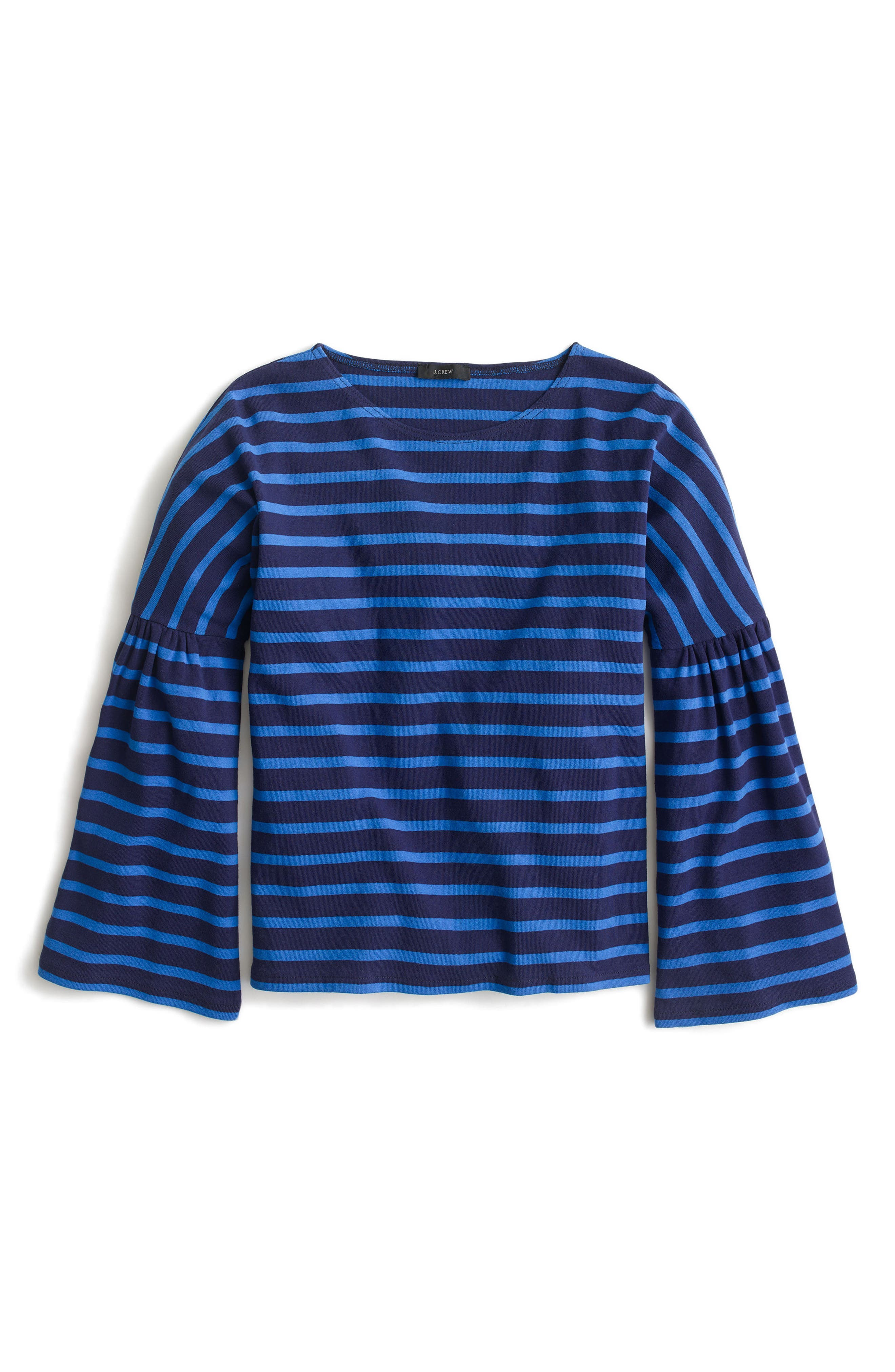 Bell Sleeve Stripe Tee,                             Main thumbnail 1, color,                             409
