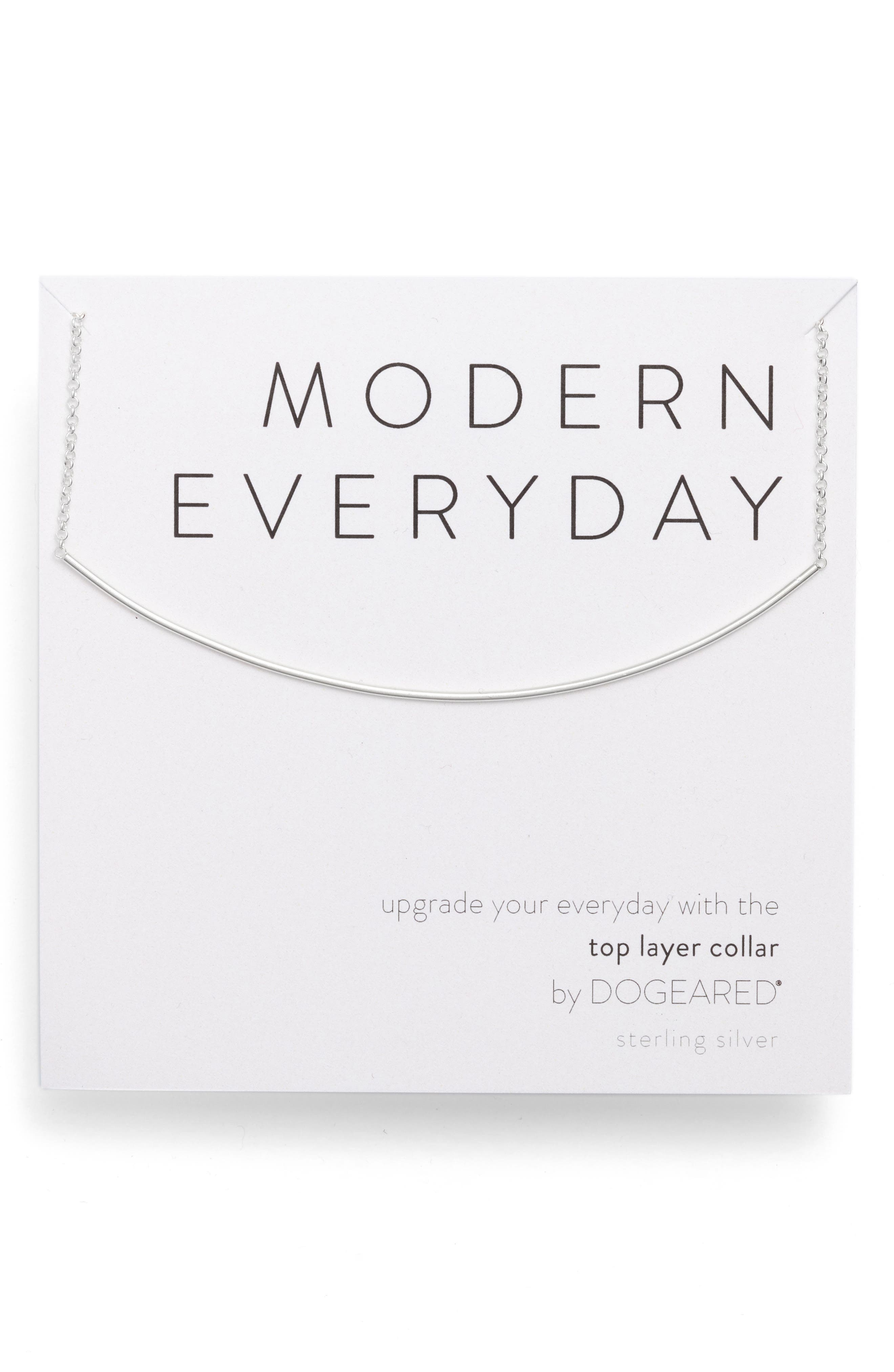 DOGEARED Modern Everyday Top Layer Necklace in Silver